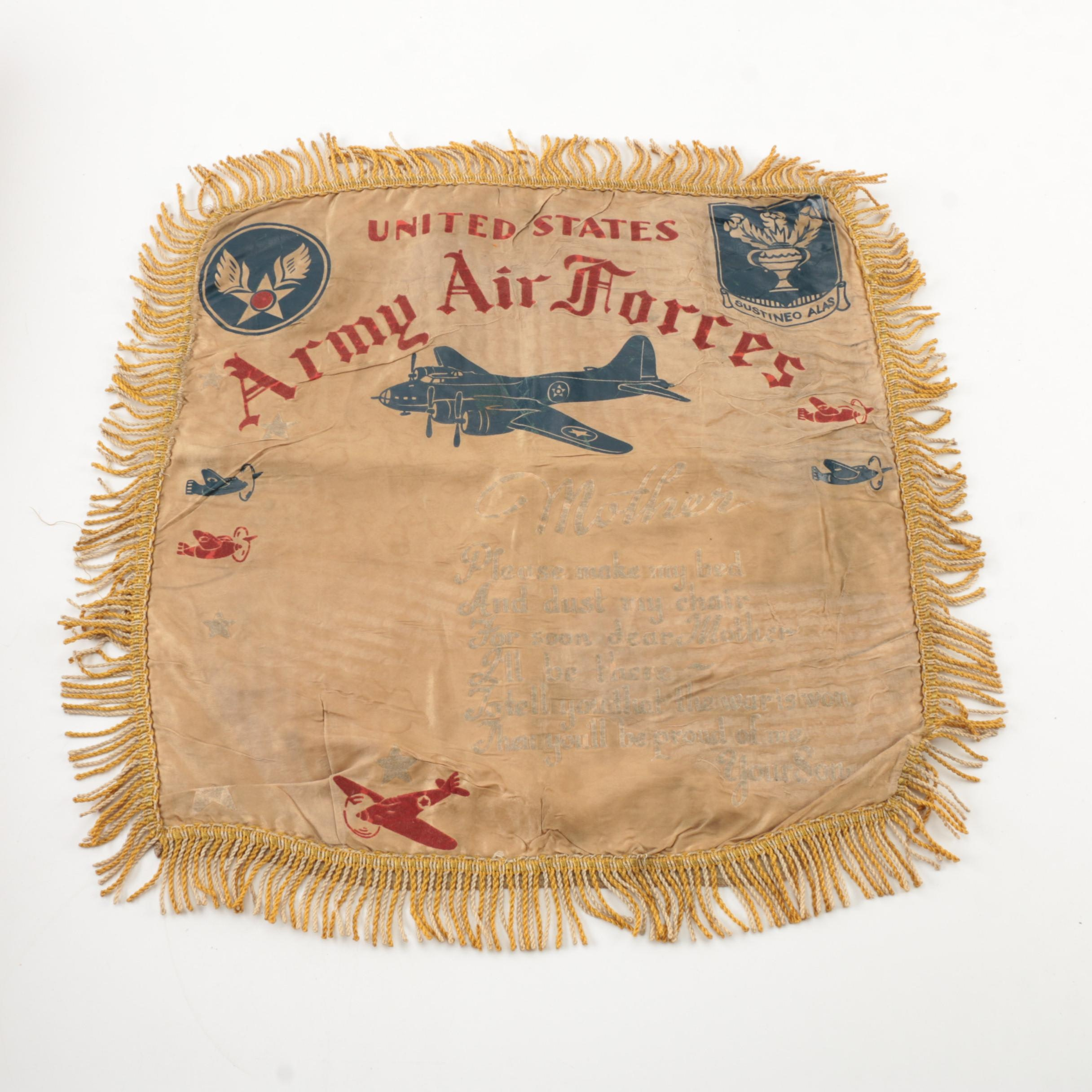WWII Army Air Forces Sweetheart Pillow Case Cover