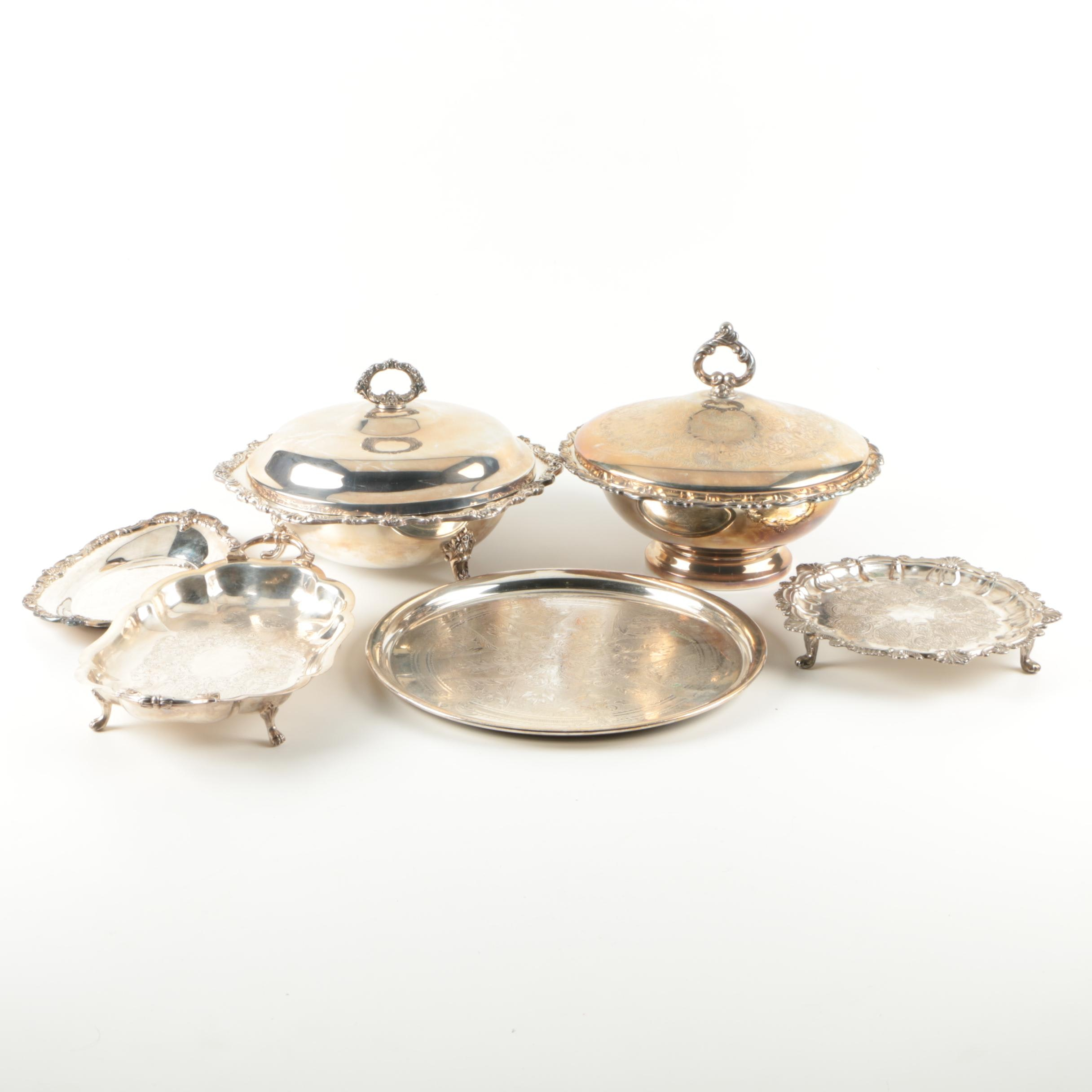 Silver-Plated Serving Ware Including Towle