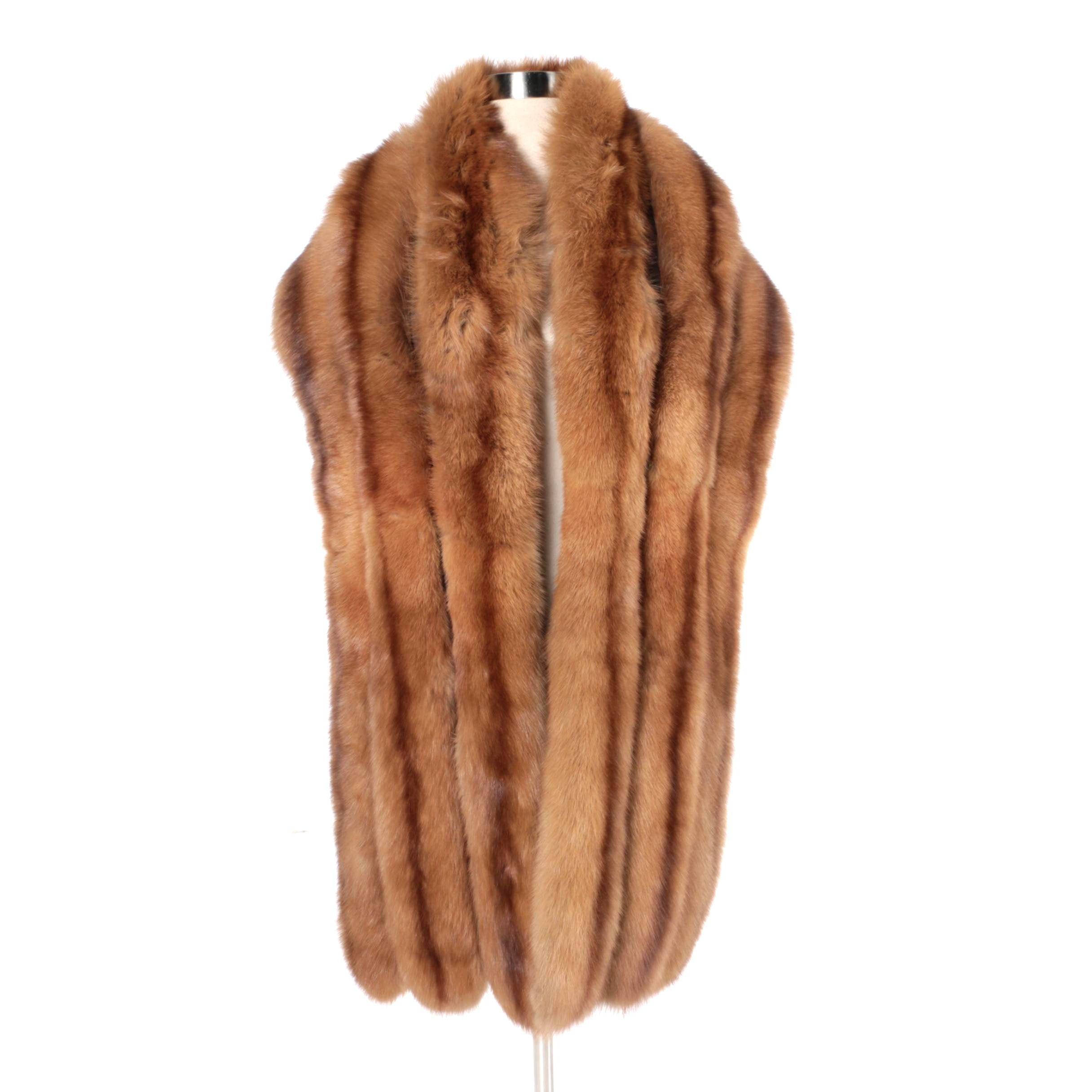 Alper Richman Furs Marten Fur Stole