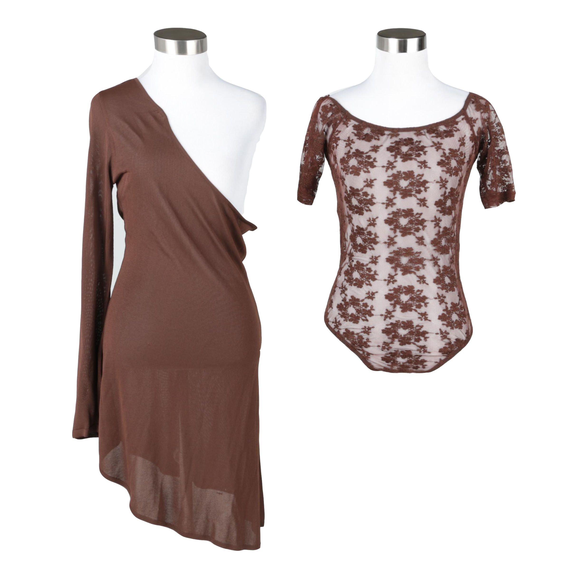 Alberta Ferretti Cocktail Dress and Uzbek Lace Bodysuit