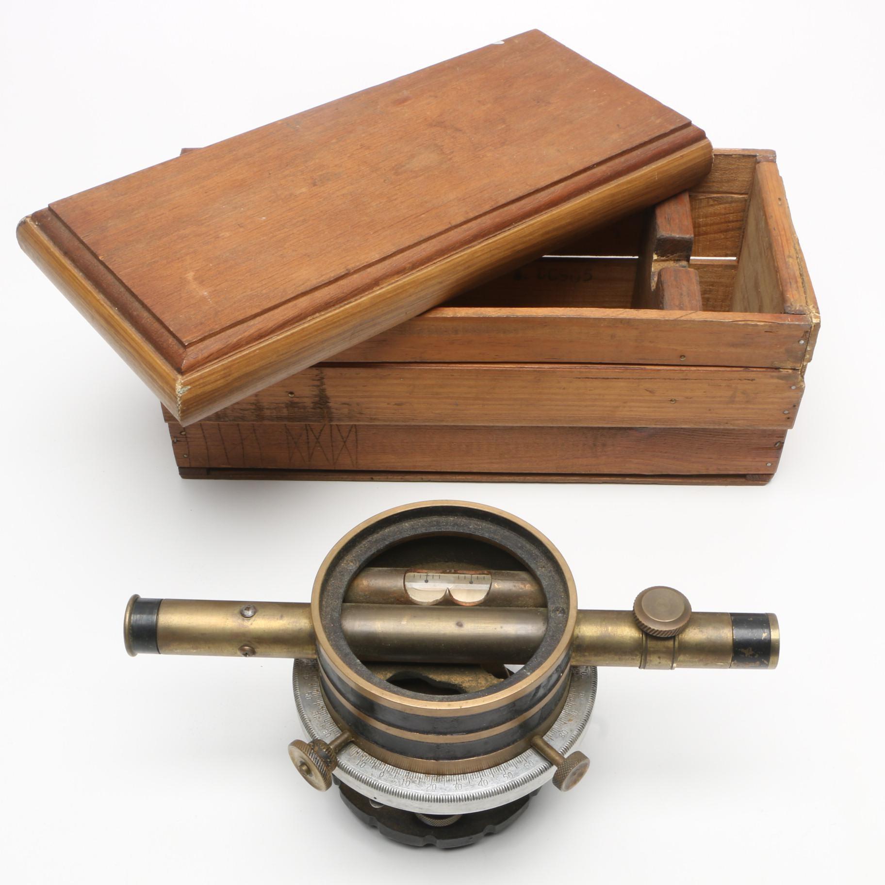 Vintage Bostrom-Brady Surveyor's Level Transit with Case