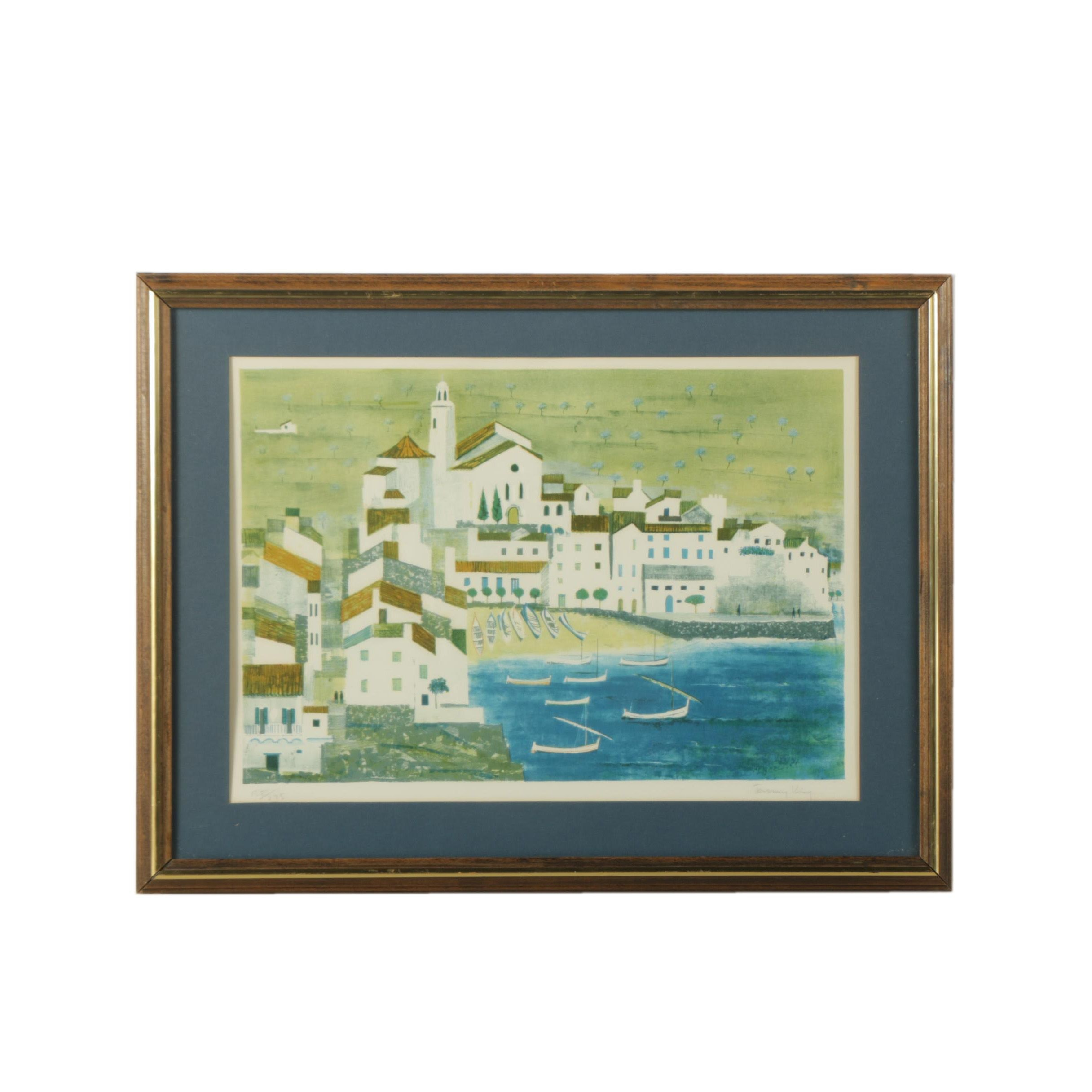 """Jeremy King Limited Edition Lithograph on Paper """"Marbella"""""""