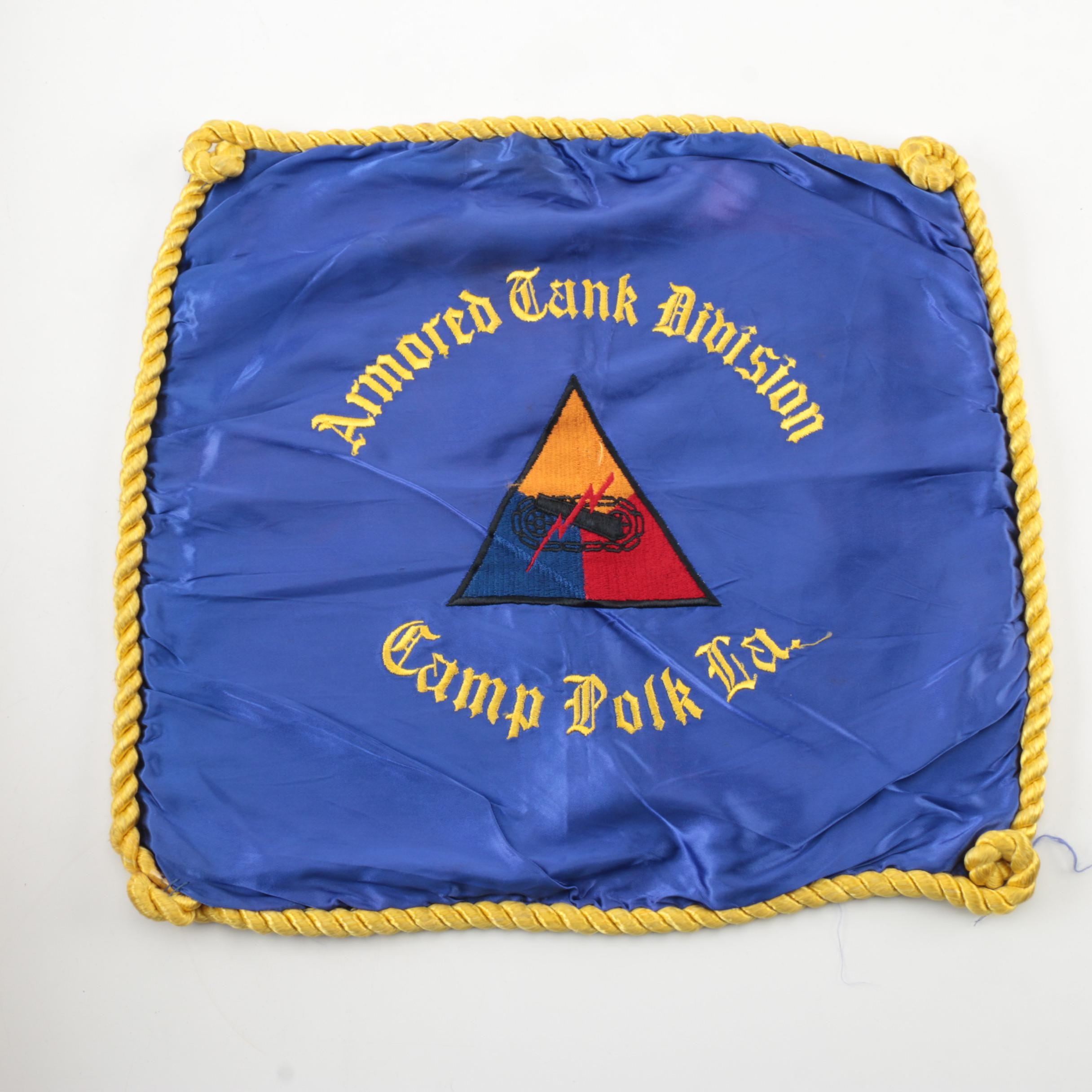 Armored Tank Division  Camp Polk, La. Pillow Cover