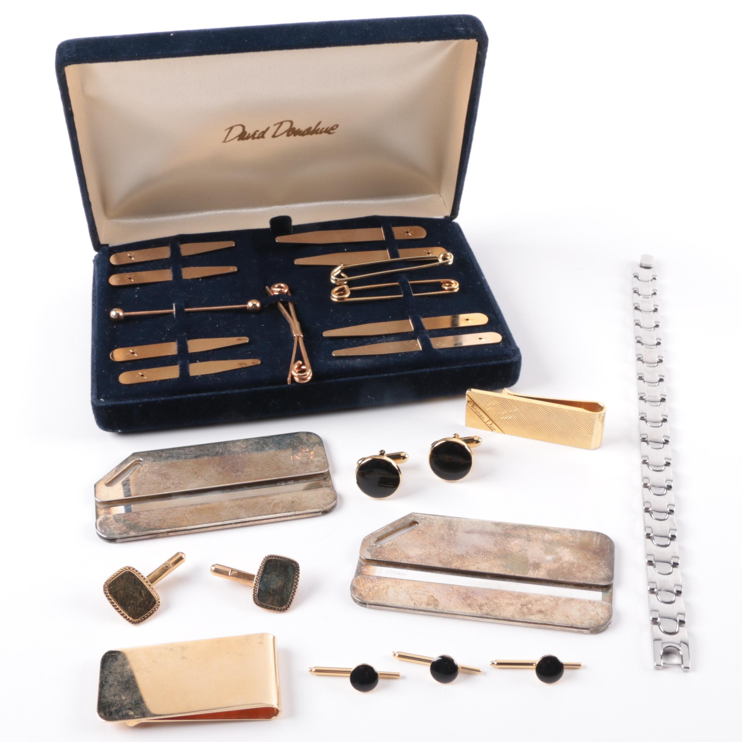 Money Clips, Cuff Links and Collar Stays and More