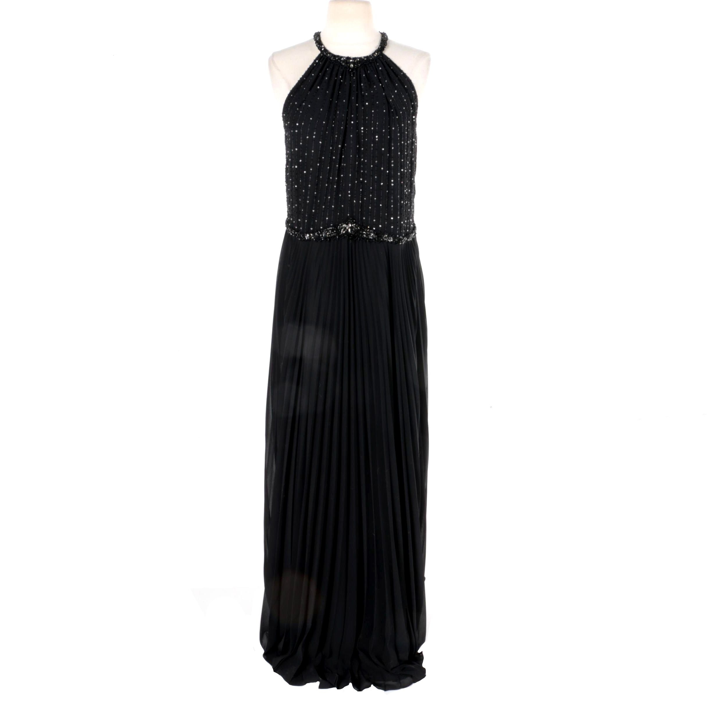 Escada Black Sleeveless Evening Dress