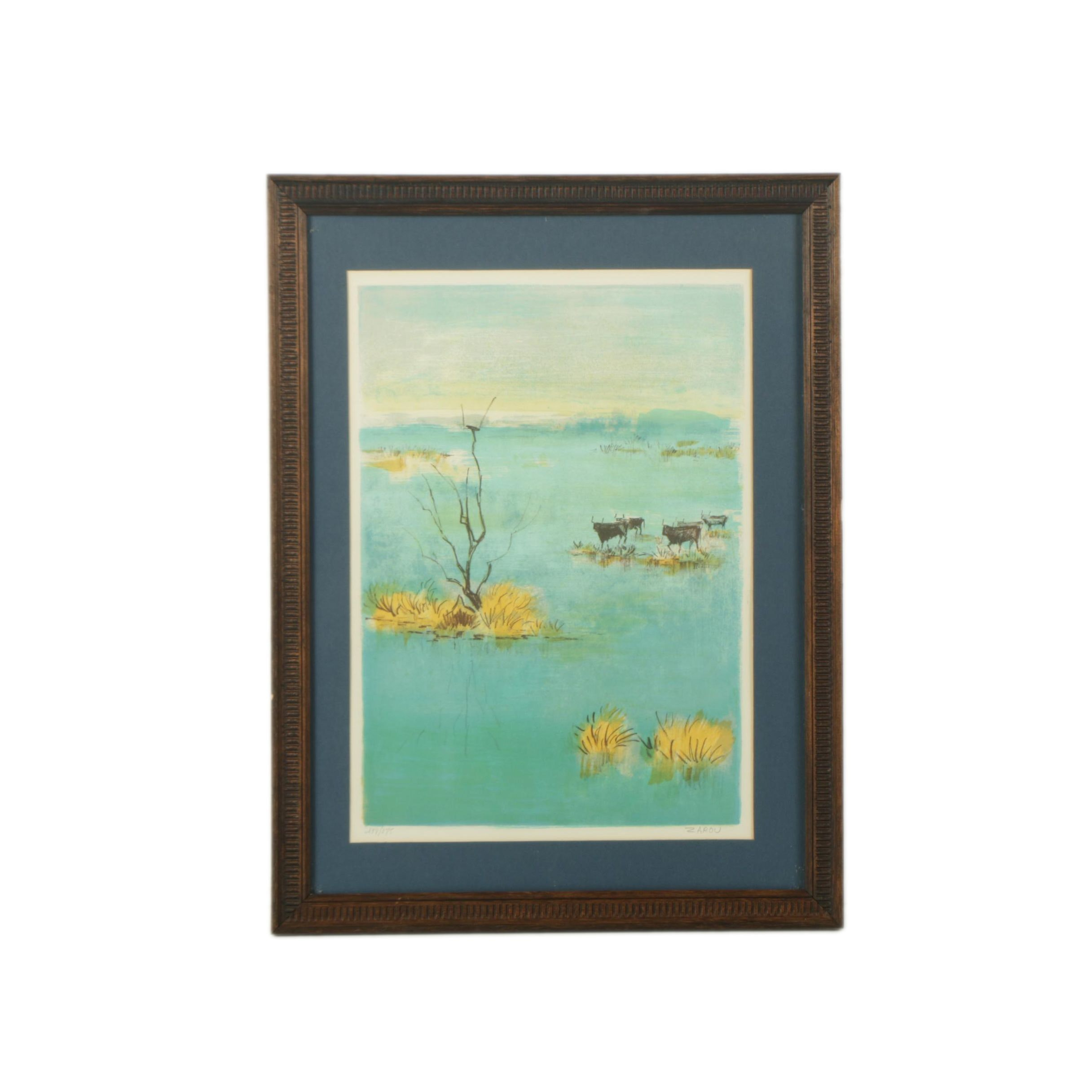 Victor Zarou Limited Edition Color Lithograph on Paper