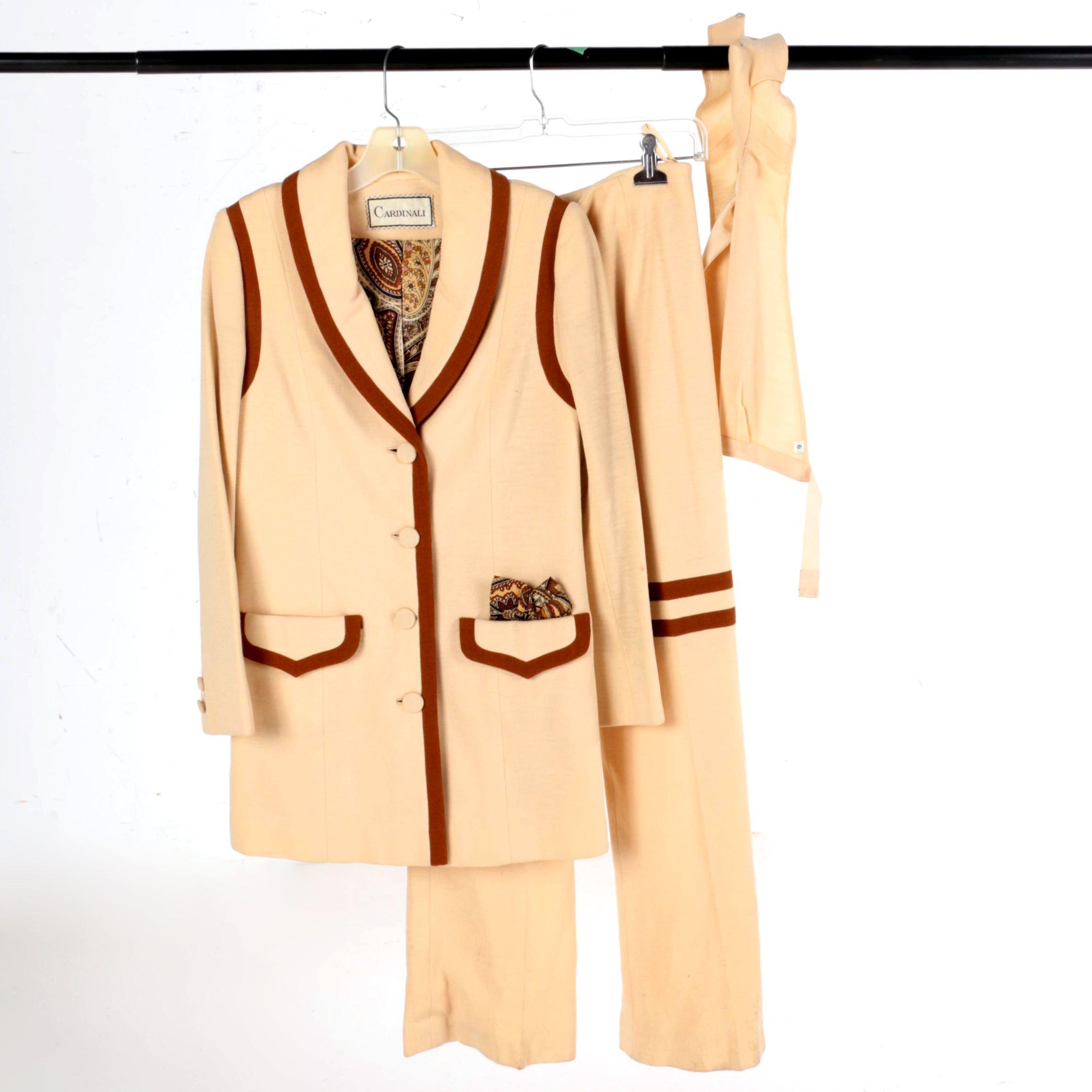 Women's Vintage Cardinali Three-Piece Pantsuit