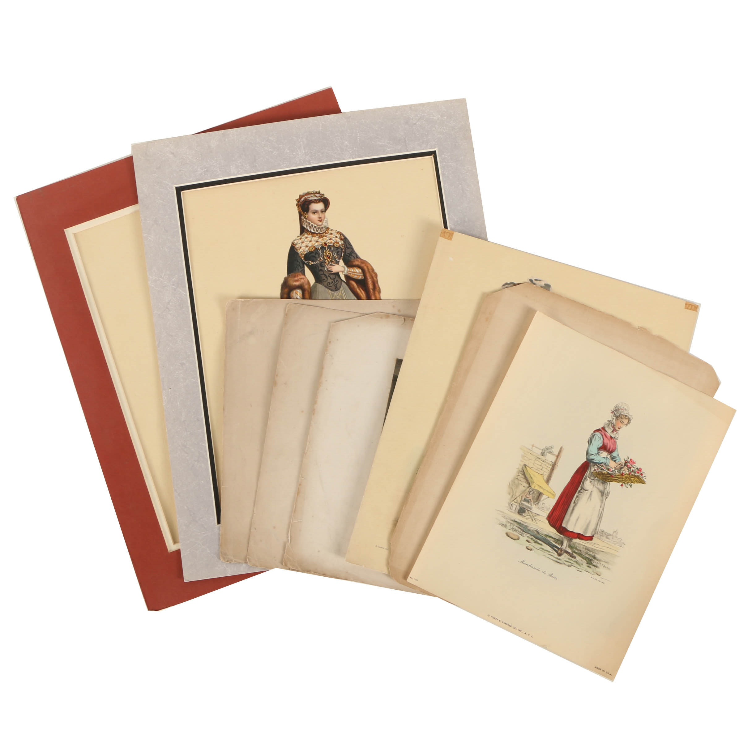 Reproduction Prints on Paper Including Fashion Plates