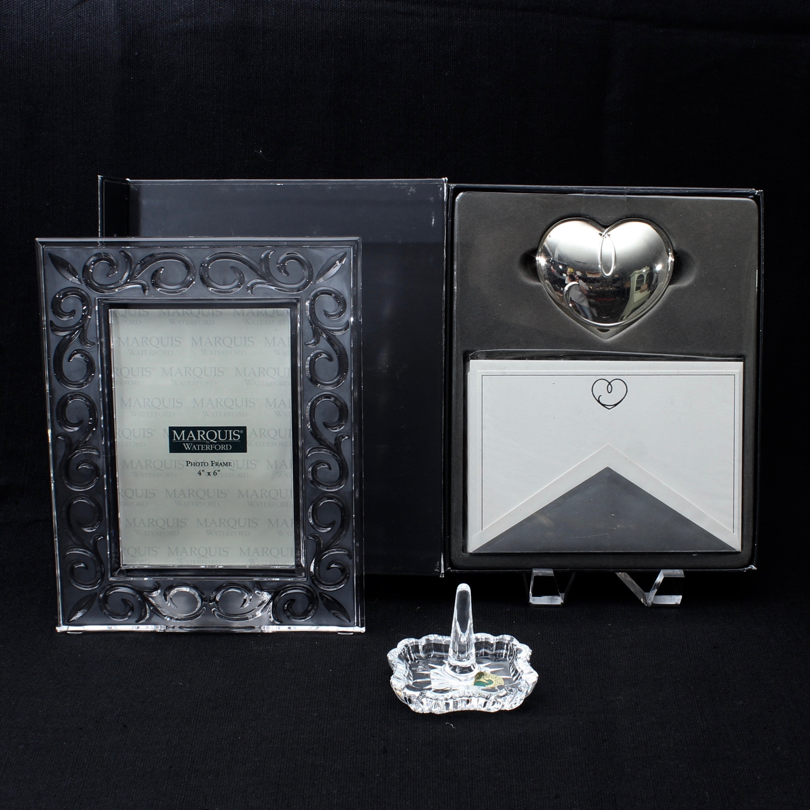 Marquis By Waterford Crystal Frame Stationary And Waterford Crystal