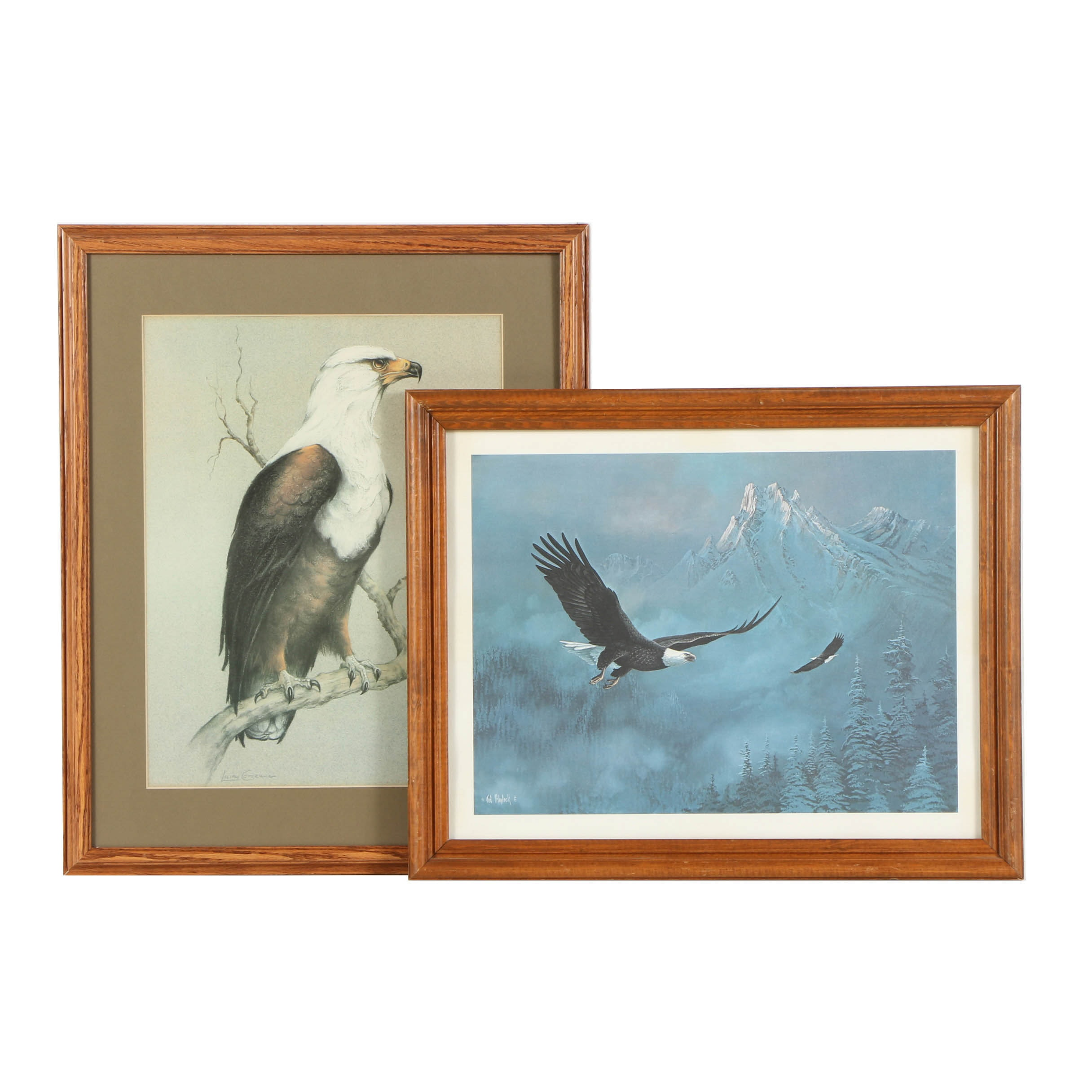Offset Lithographs on Paper of Eagles