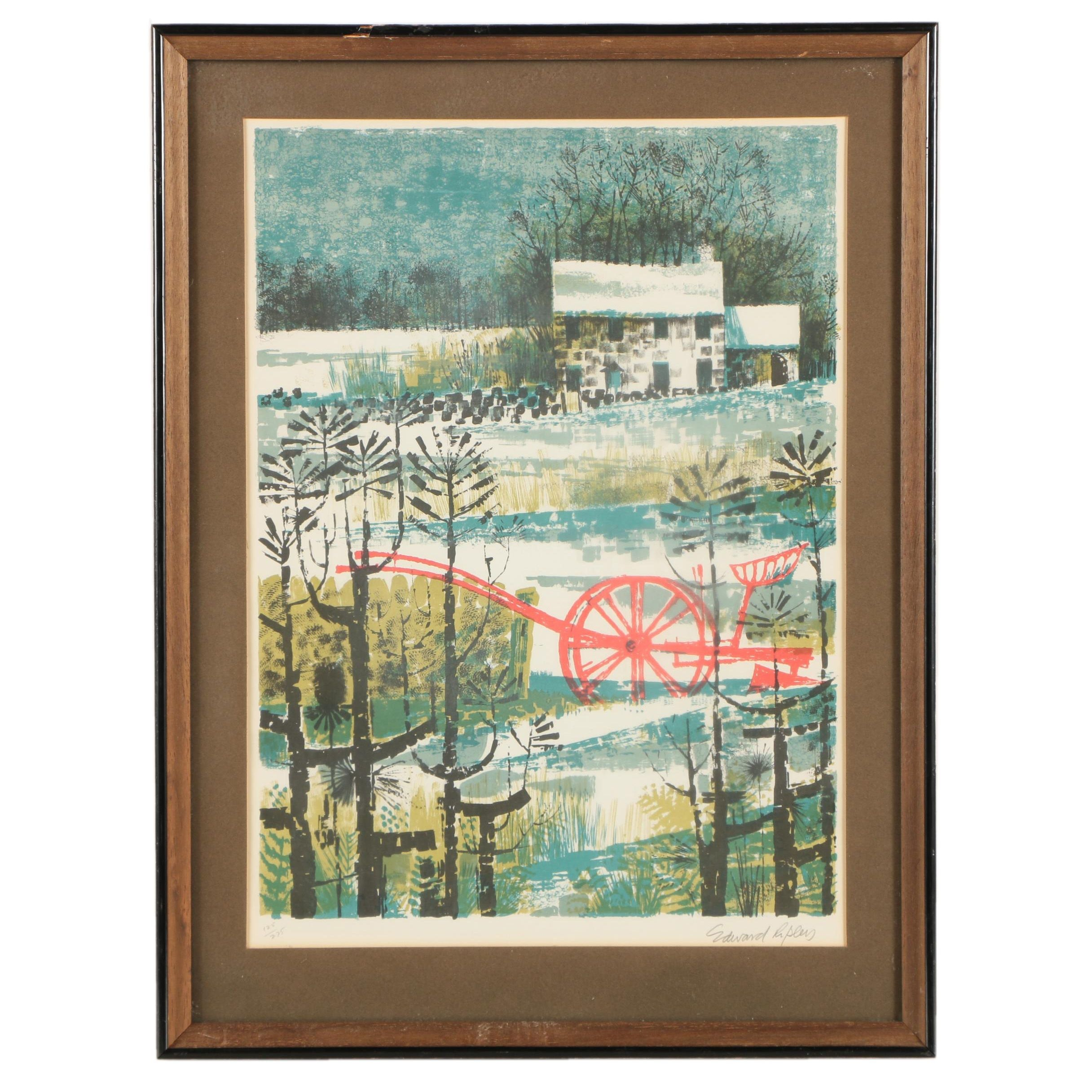 Edward Ripley Limited Edition Color Lithograph on Paper
