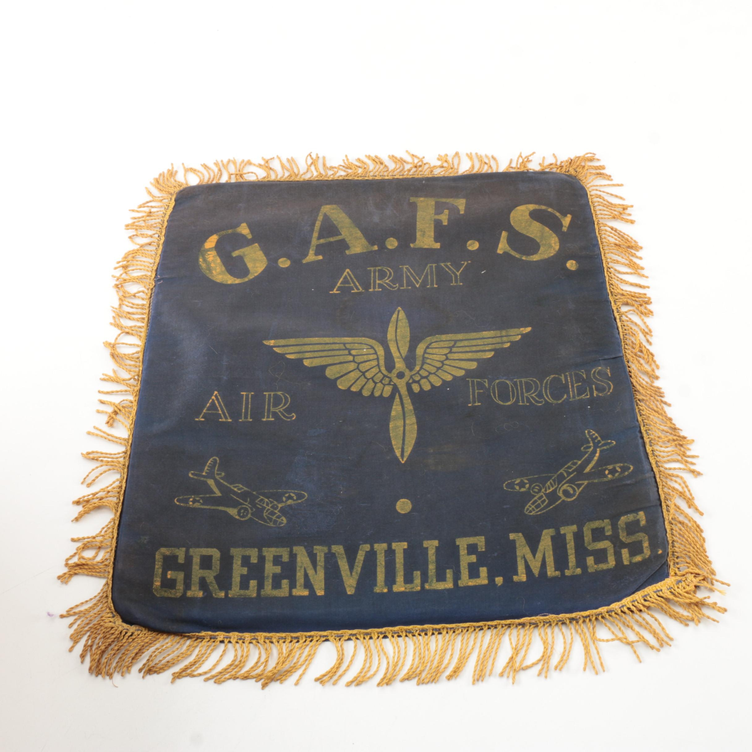 WWII G.A.F.S. Army Air Forces Pillow Cover