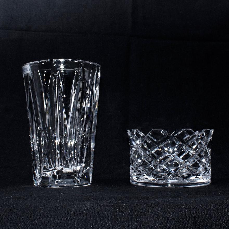 Villeroy Boch Crystal Bowl And Vase Ebth