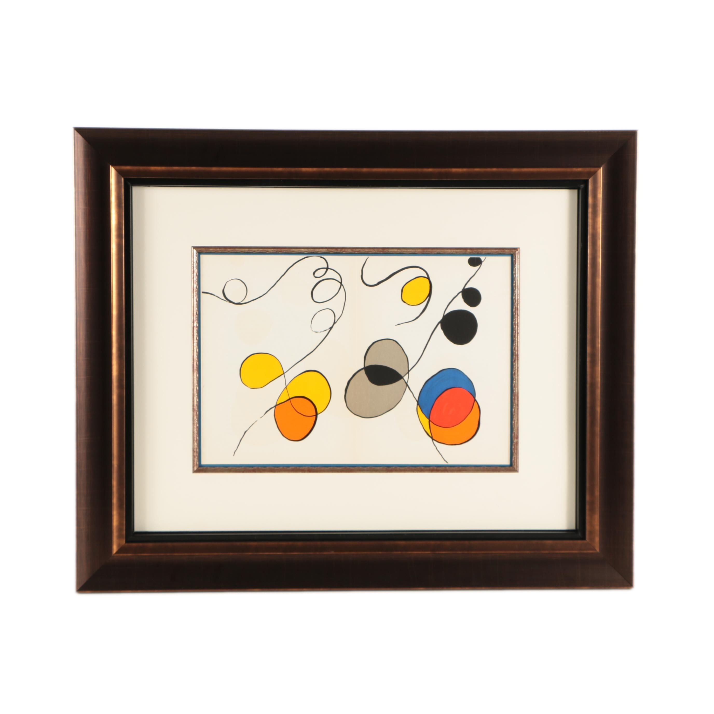 "Lithograph on Paper Designed by Alexander Calder from ""Derriere le Miroir"""