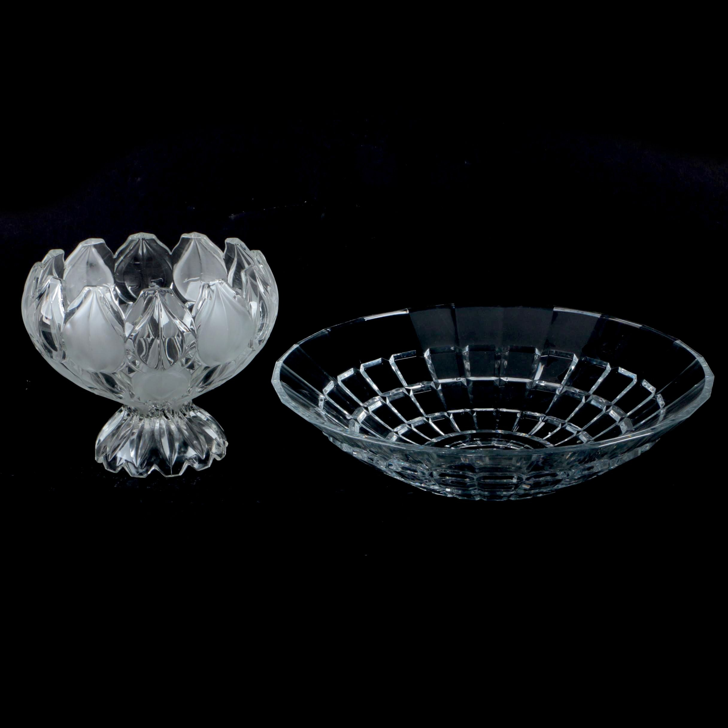 Crystal and Glass Bowls Including Cristal D'Arques