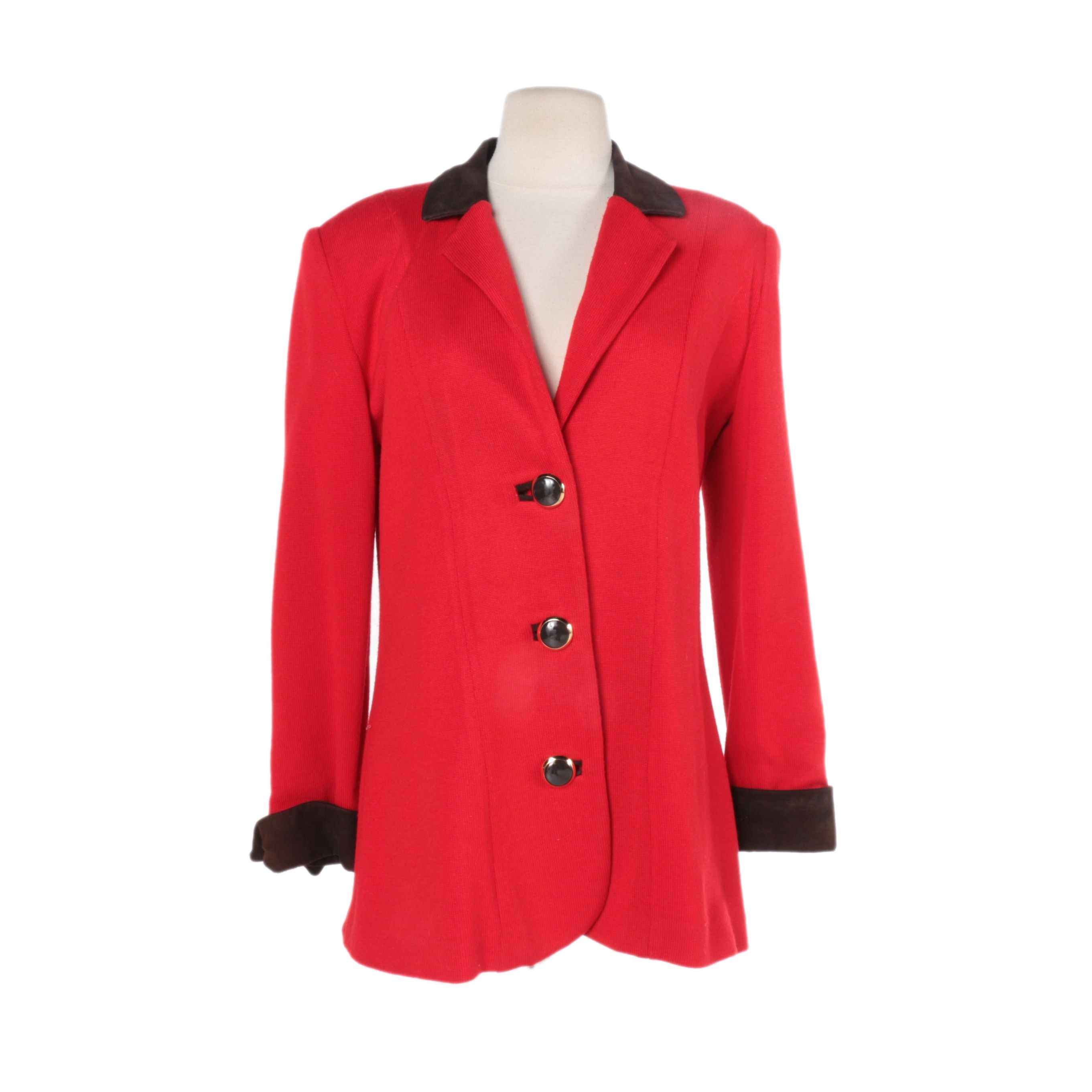 Women's St. John Sportswear Red Jacket