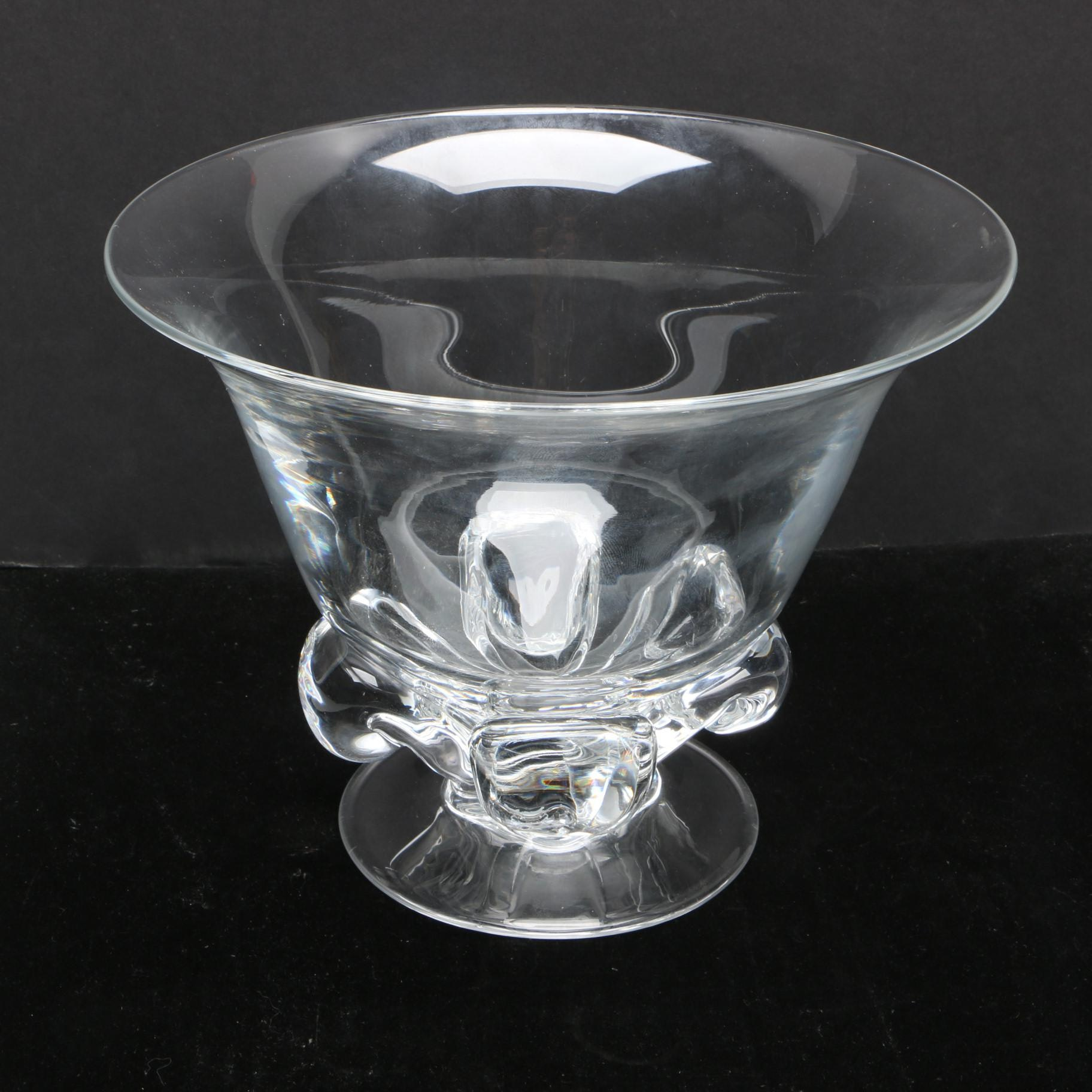 Vintage Steuben Art Glass Footed Bowl