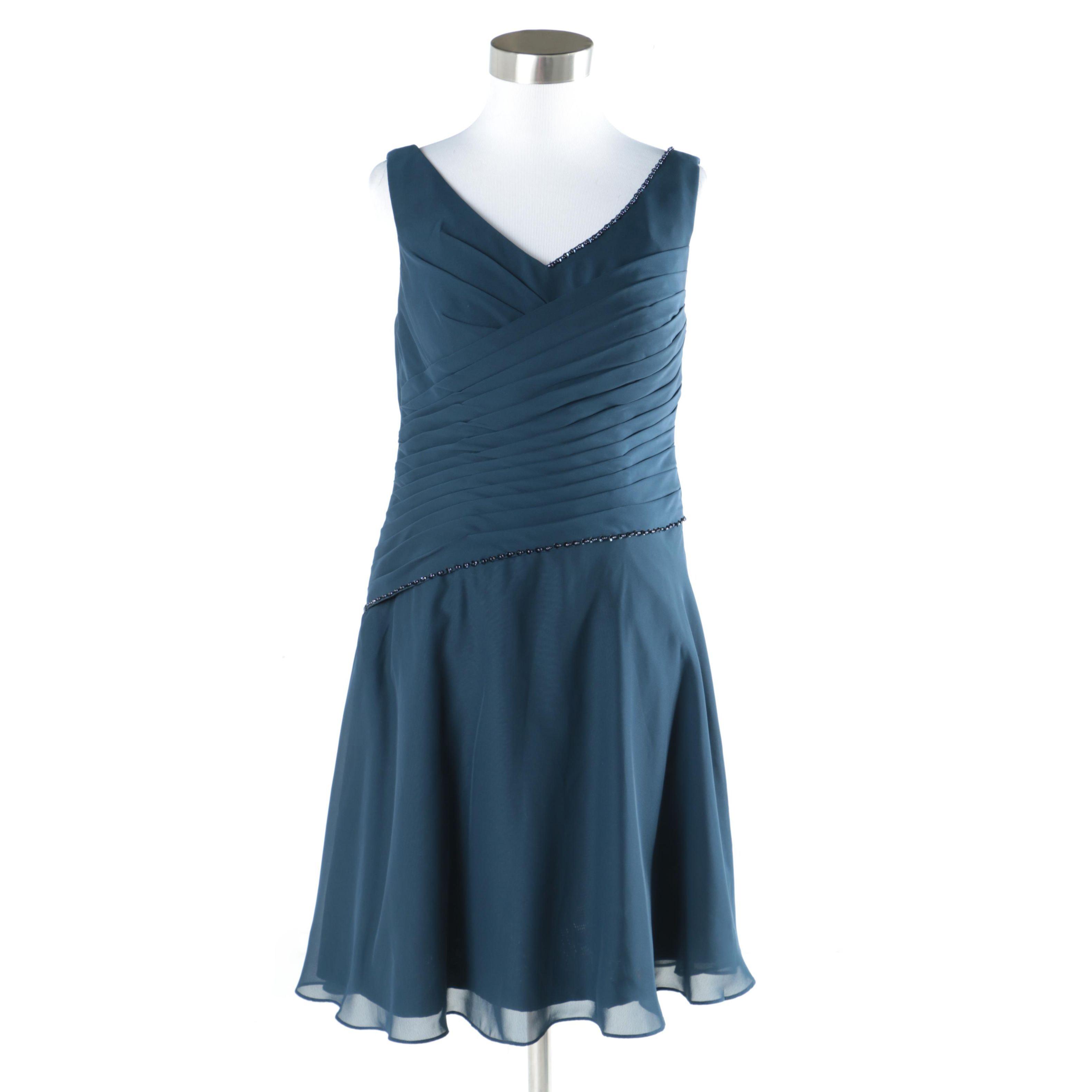 JJ's House Blue Chiffon Beaded Dress