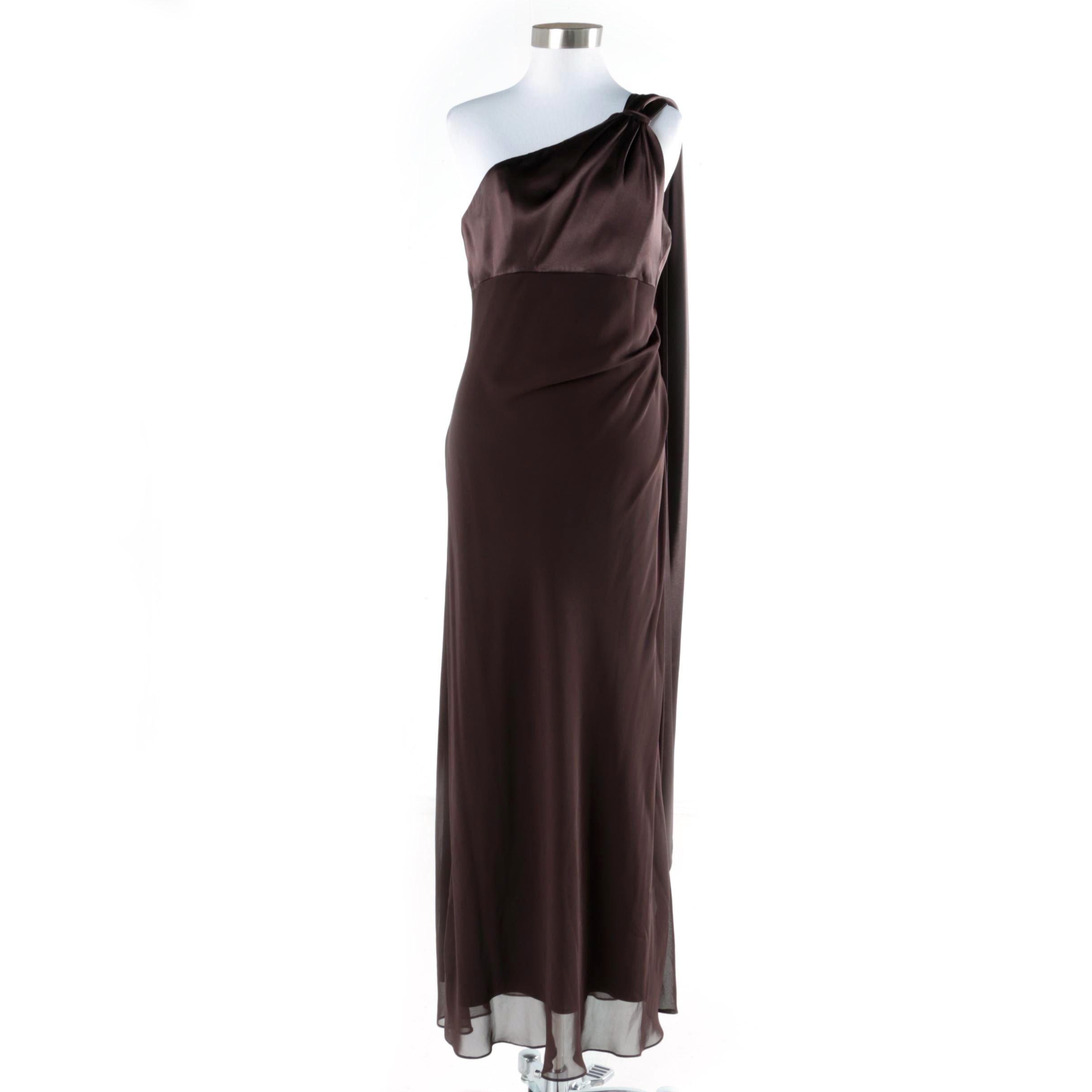 Alex Evenings One-Shoulder Evening Dress