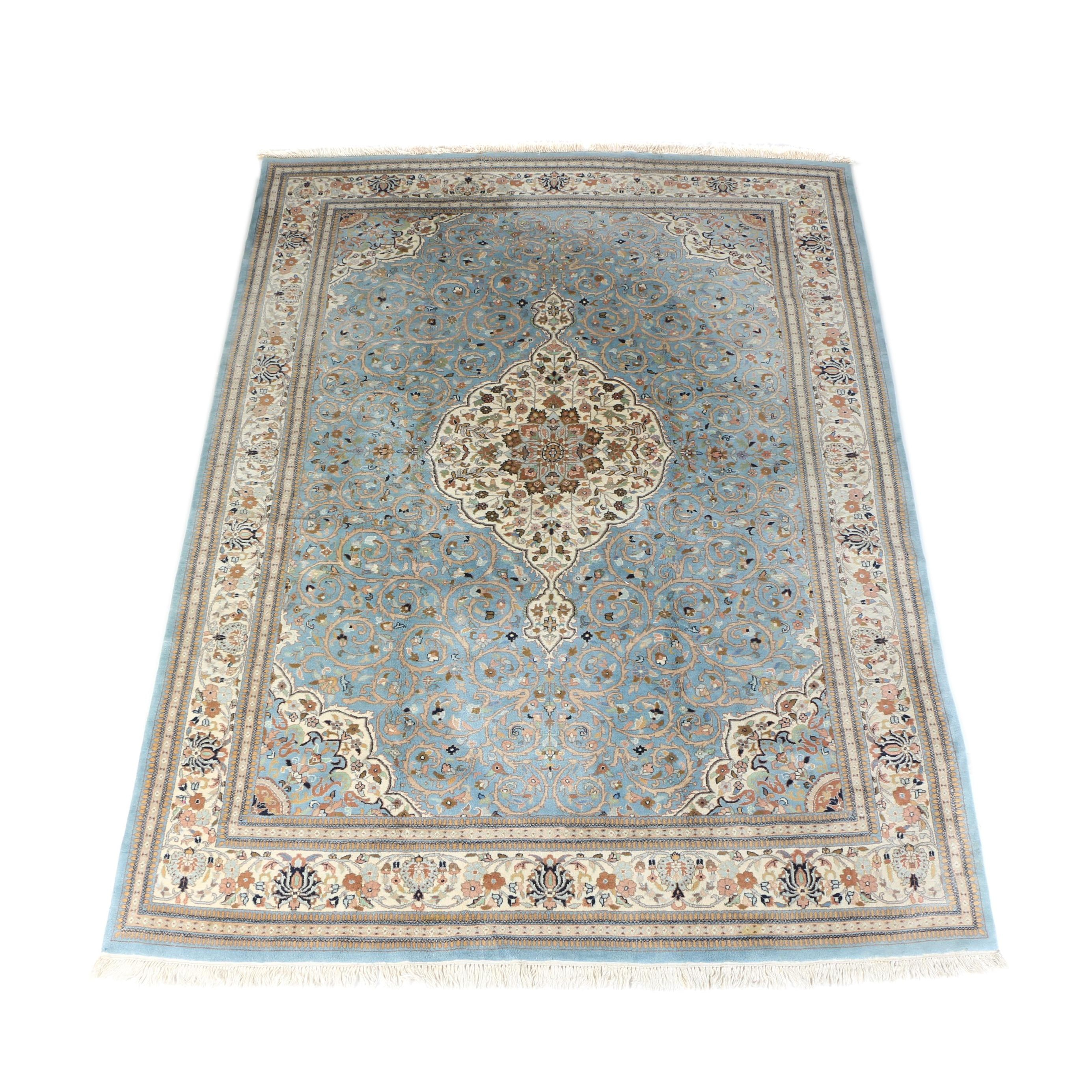 Hand-Knotted Sino-Persian Wool Area Rug