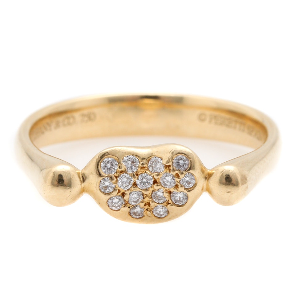 Elsa Peretti for Tiffany & Co. 18K Yellow Gold Diamond Ring