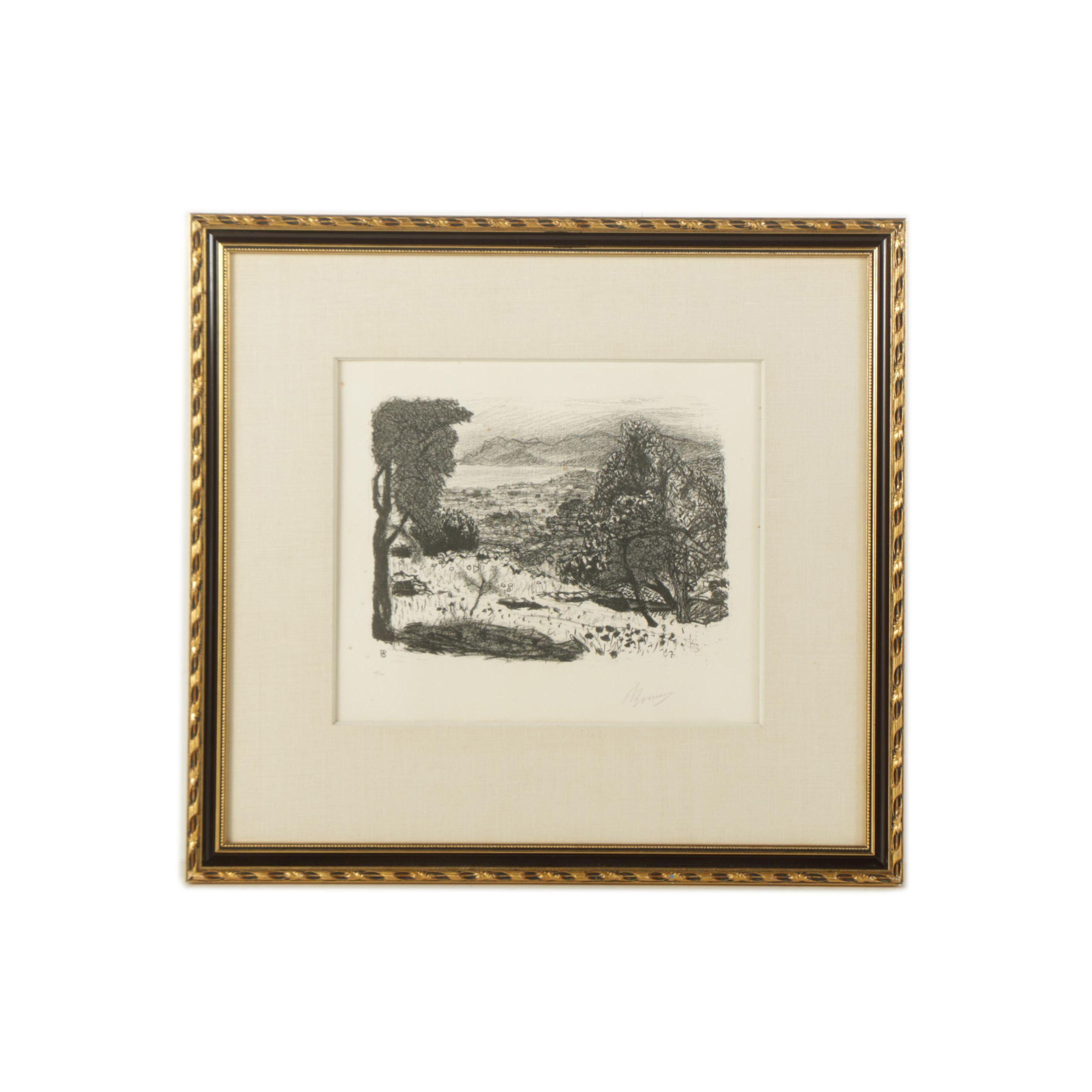 """Pierre Bonnard Limited Edition Lithograph """"Landscape"""""""