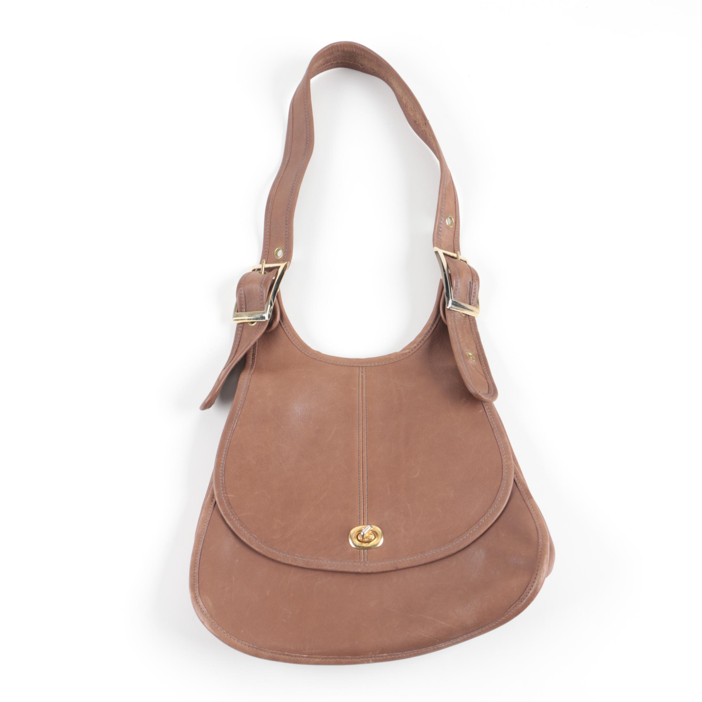 Original Bell Brown Leather Shoulder Bag