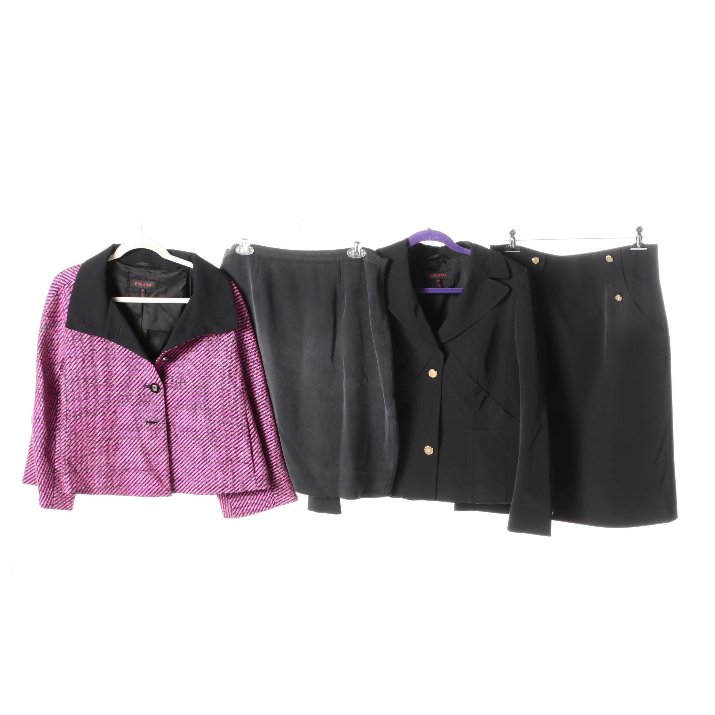 Skirt Suit, Pink Jacket, and Pencil Skirt Including Escada