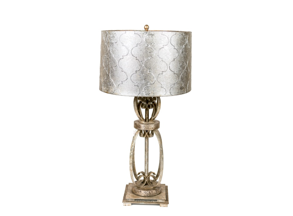 Contemporary Table Lamp with an Arabesque Lantern Shade