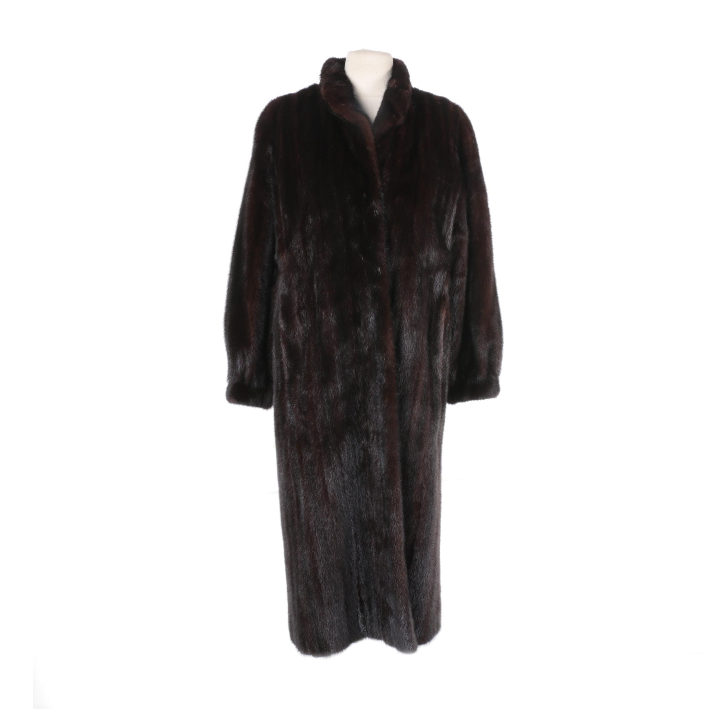 Women's Yudofsky Furriers Dark Brown Mink Fur Coat