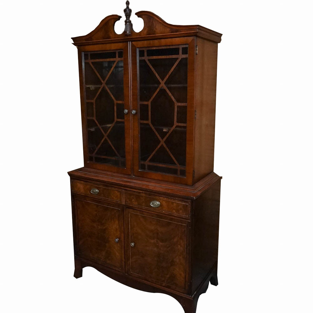 Hepplewhite Style Mahogany China Cabinet