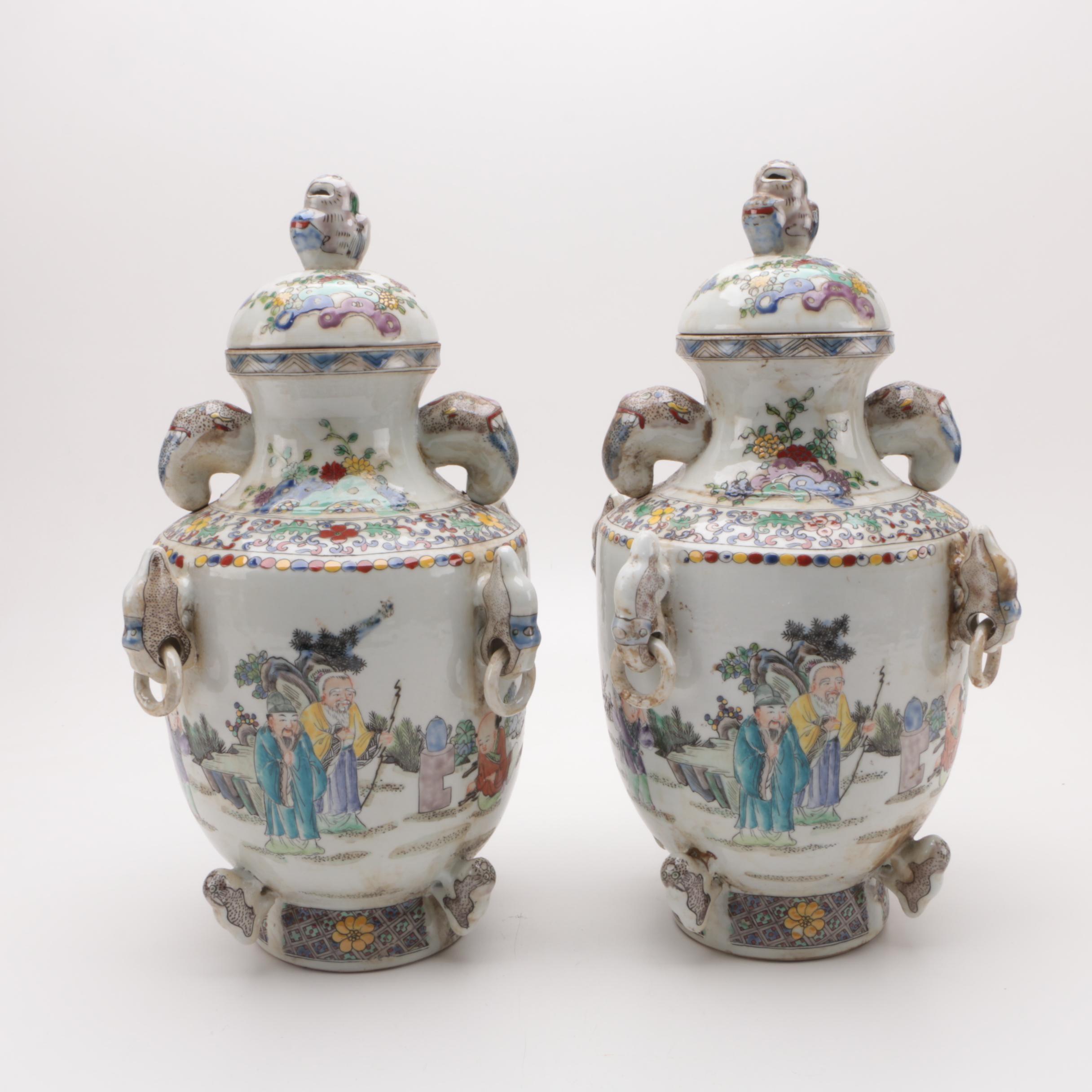 Chinese Ceramic Urns