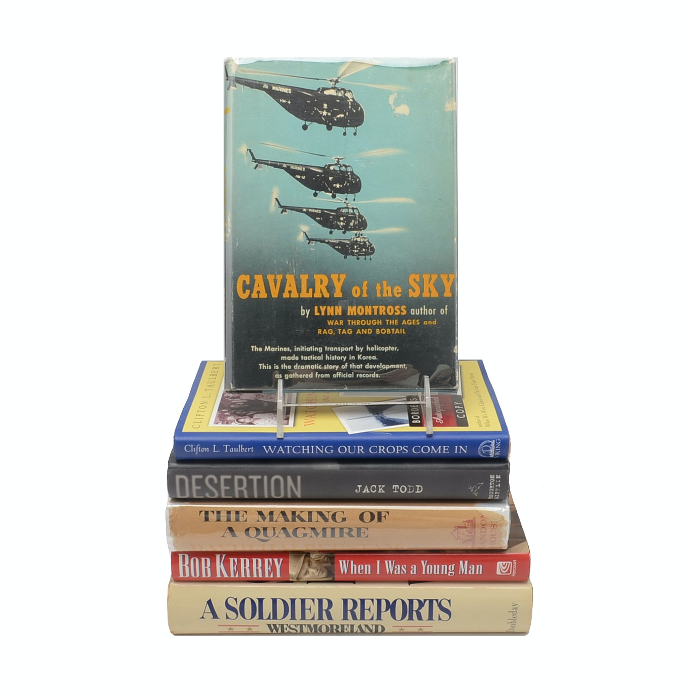 Group of Signed Vietnam War Books