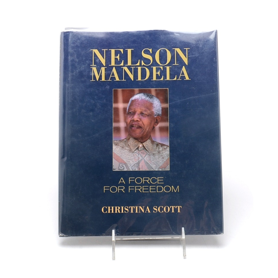 "Signed Nelson Mandela ""A Force for Freedom"""
