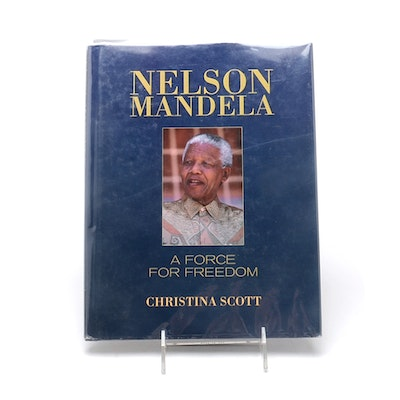 """Signed Nelson Mandela """"A Force for Freedom"""""""