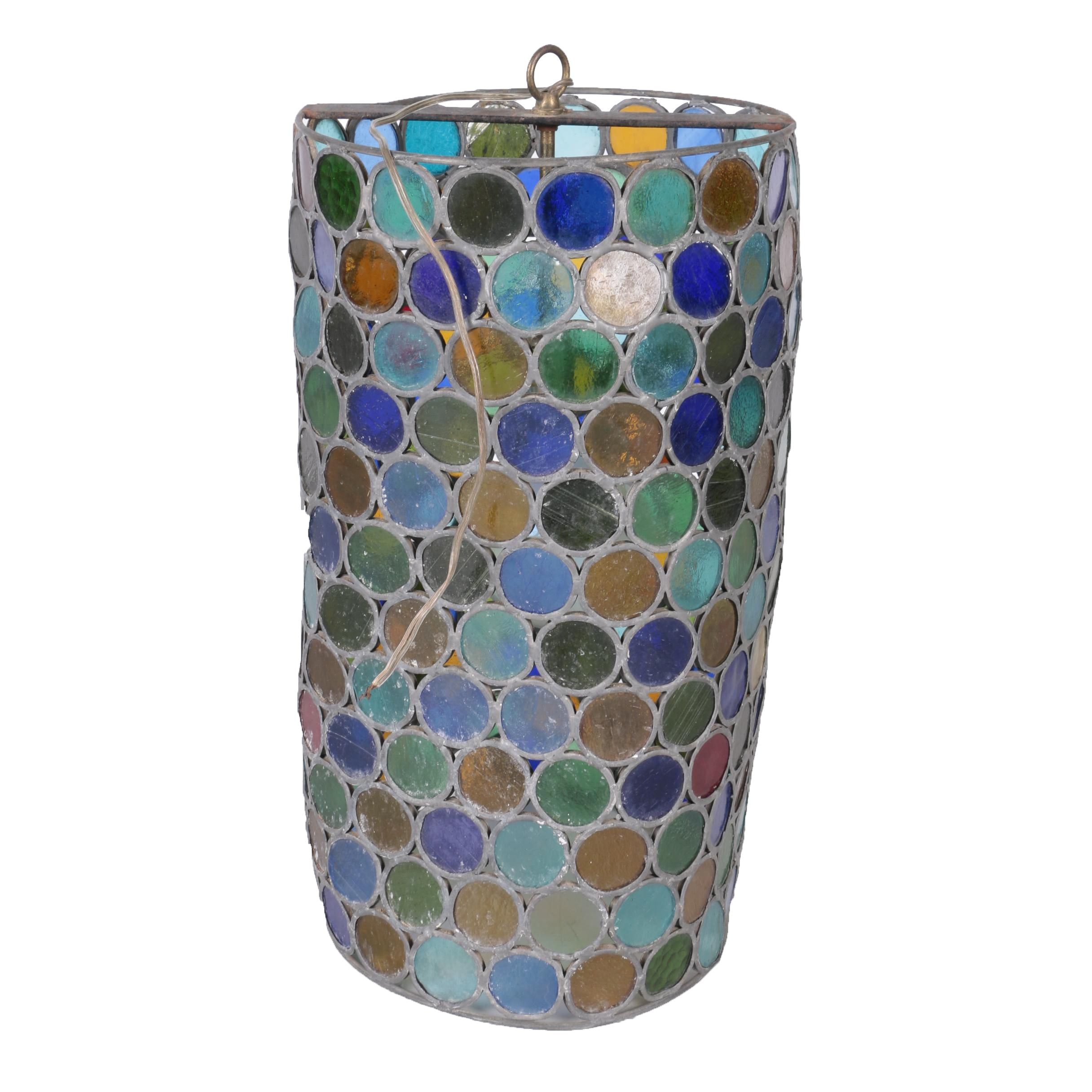 Multicolored Glass Pendant Light