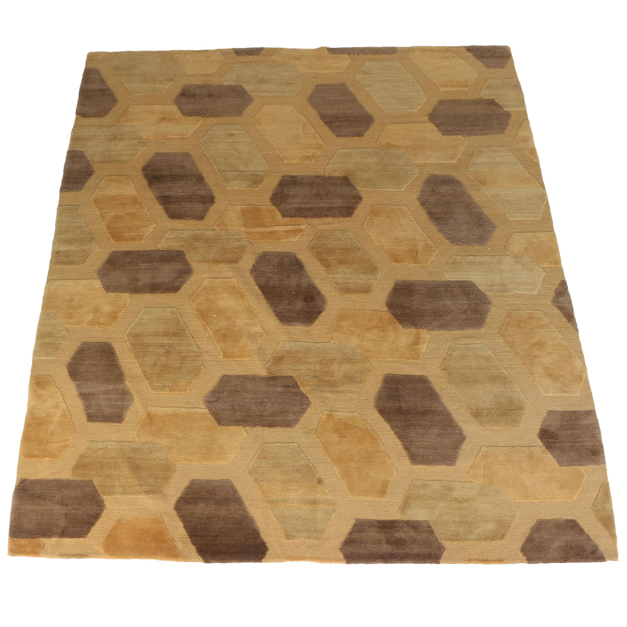 Power-Loomed Swiss Contemporary Wool Area Rug by Knecht AG