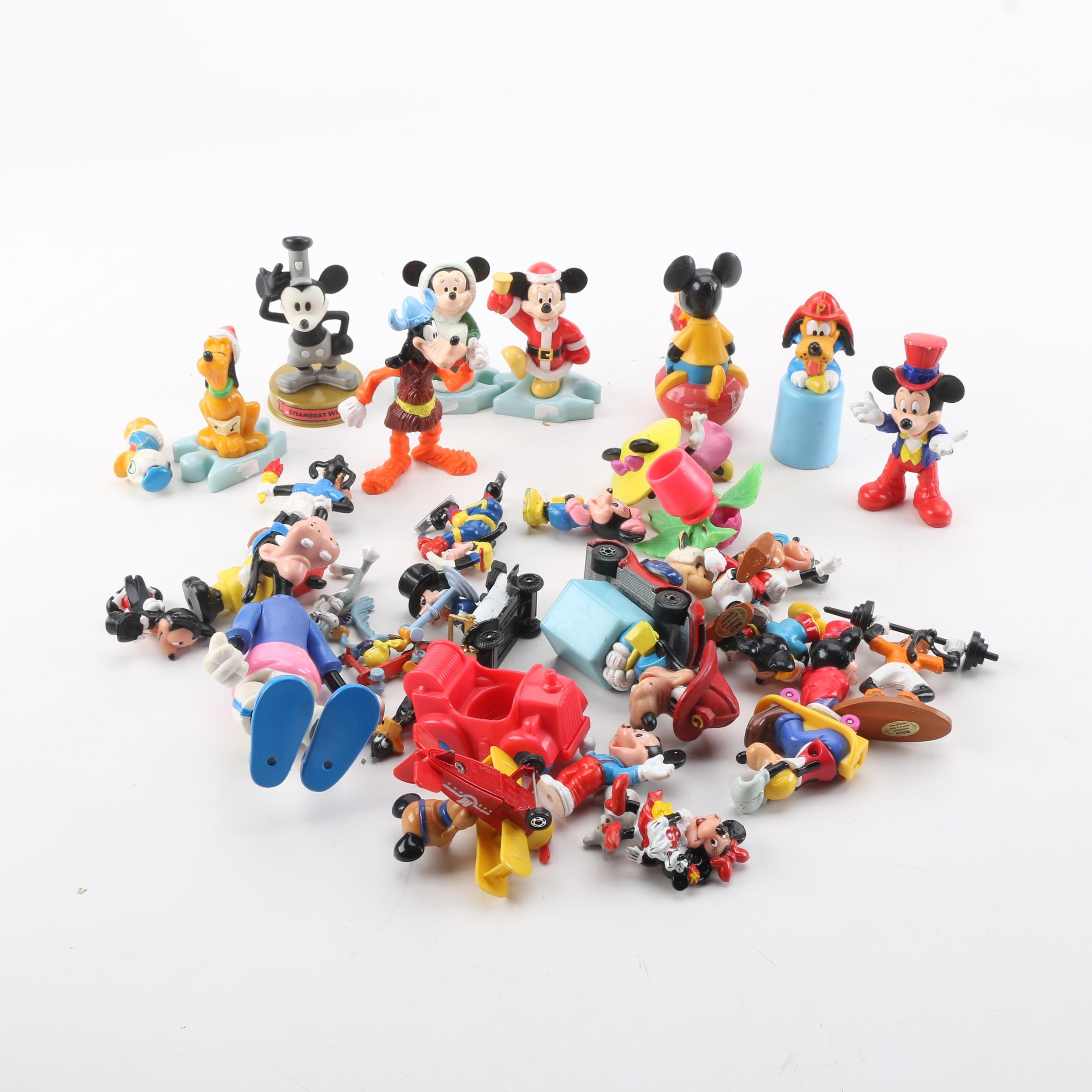 Collection of Disney Mini Plastic Toys and Figurines