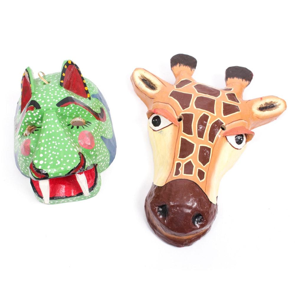 Hand Carved Animal Masks