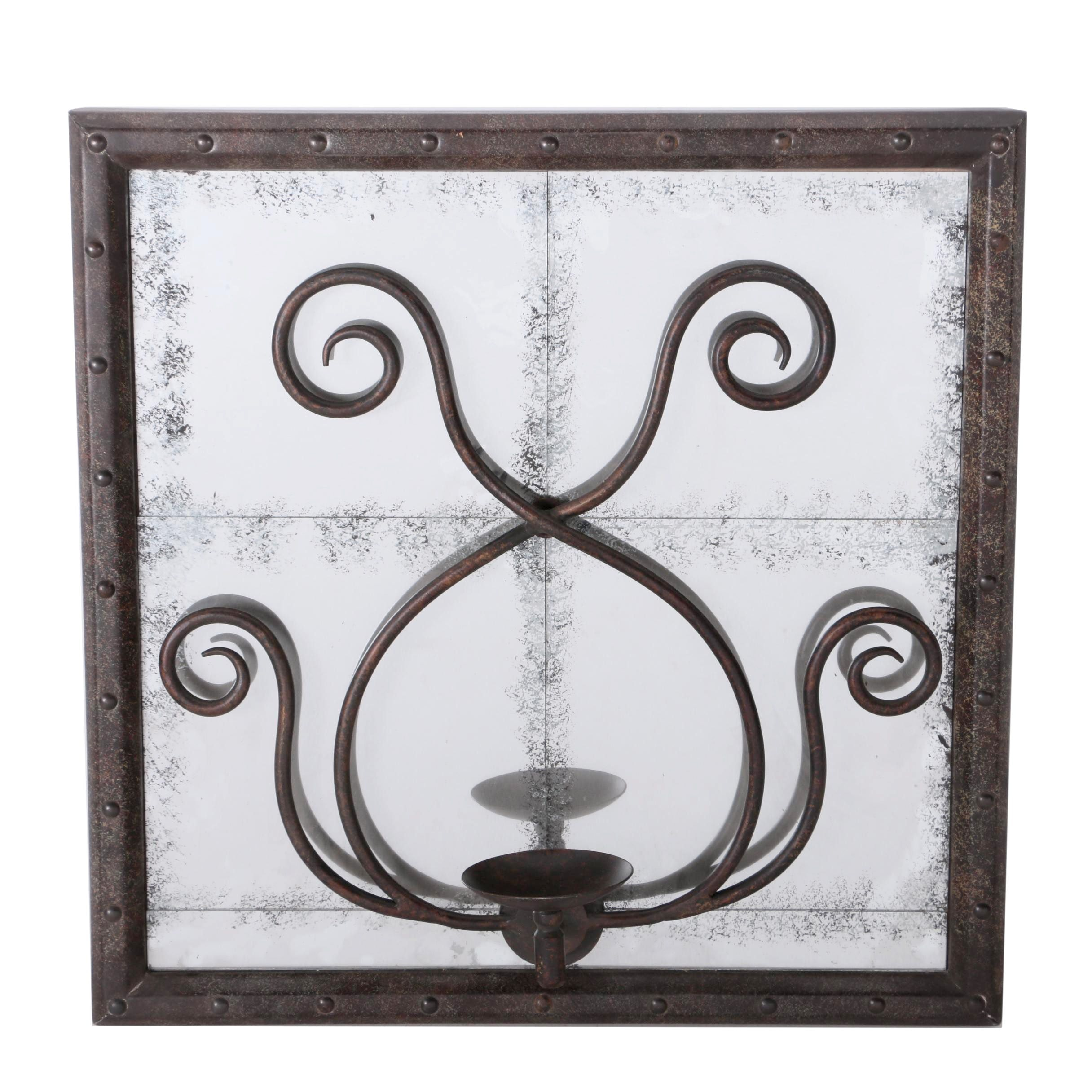 Framed Mirror Candle Sconce