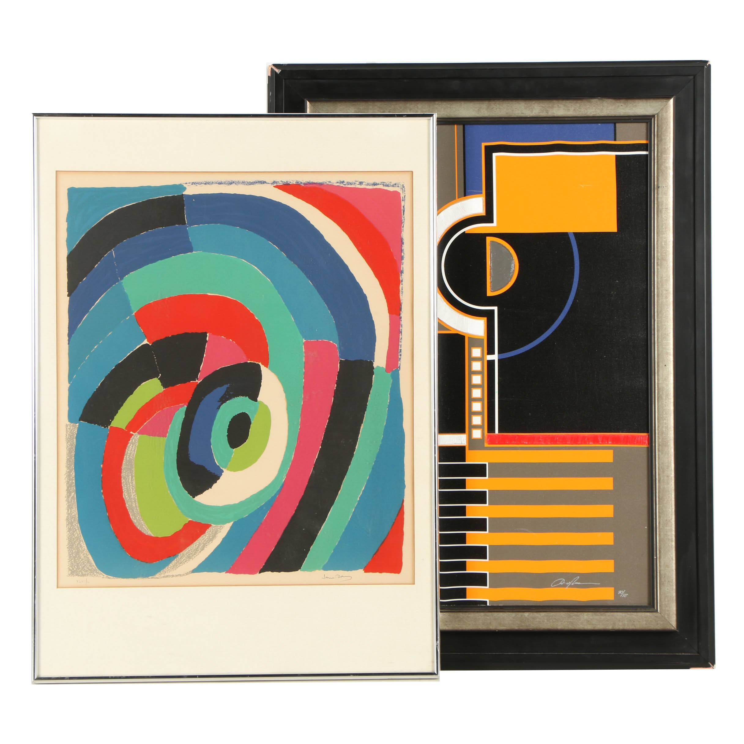 "Two Limited Edition Prints Including Sonia Delaunay Lithograph ""Tourbillon"""