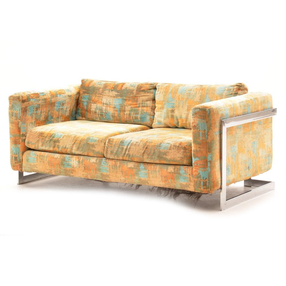 Vintage Mid Century Modern Love Seat
