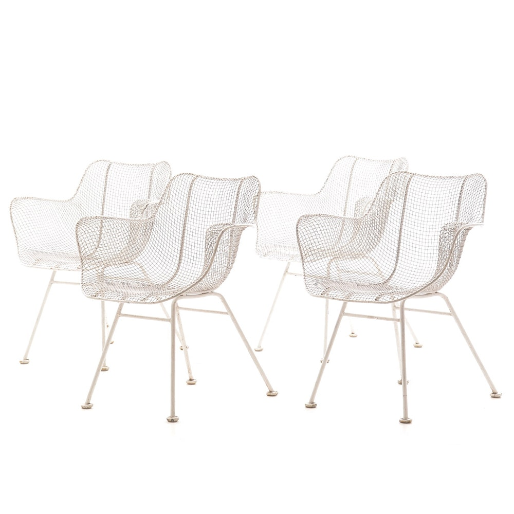 "Russell Woodard ""Sculptura"" Style Wire Mesh Chairs"
