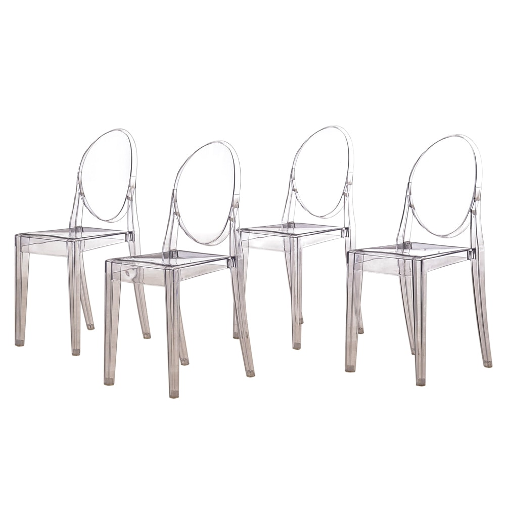 "Set of Four ""Ghost"" Style Chairs"