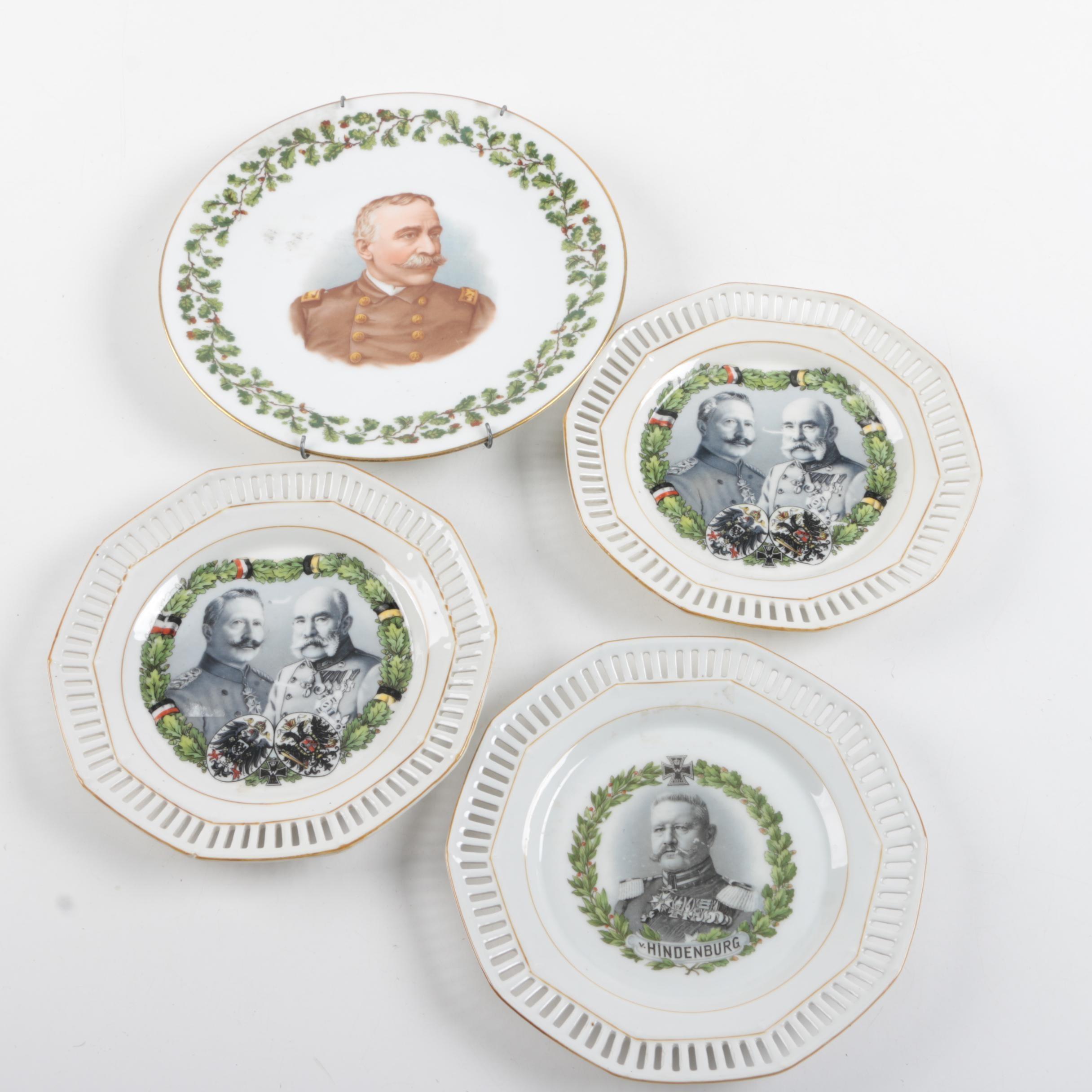 Antique Porcelain Plates Including Tressemann & Vogt
