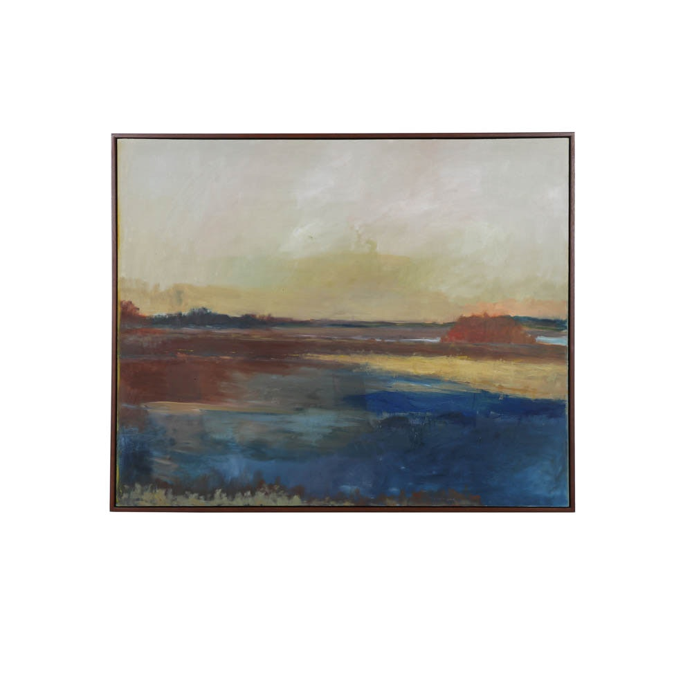 "Stephen Dinsmore Oil Painting of Landscape ""Santee"""
