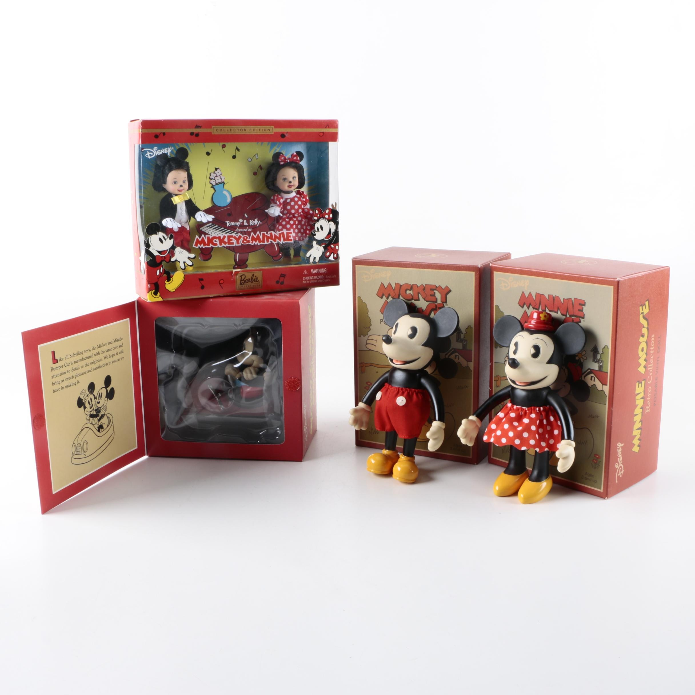 Classic Style Mickey and Minnie Mouse Barbie Tommy and Kelly Dolls and Figurines