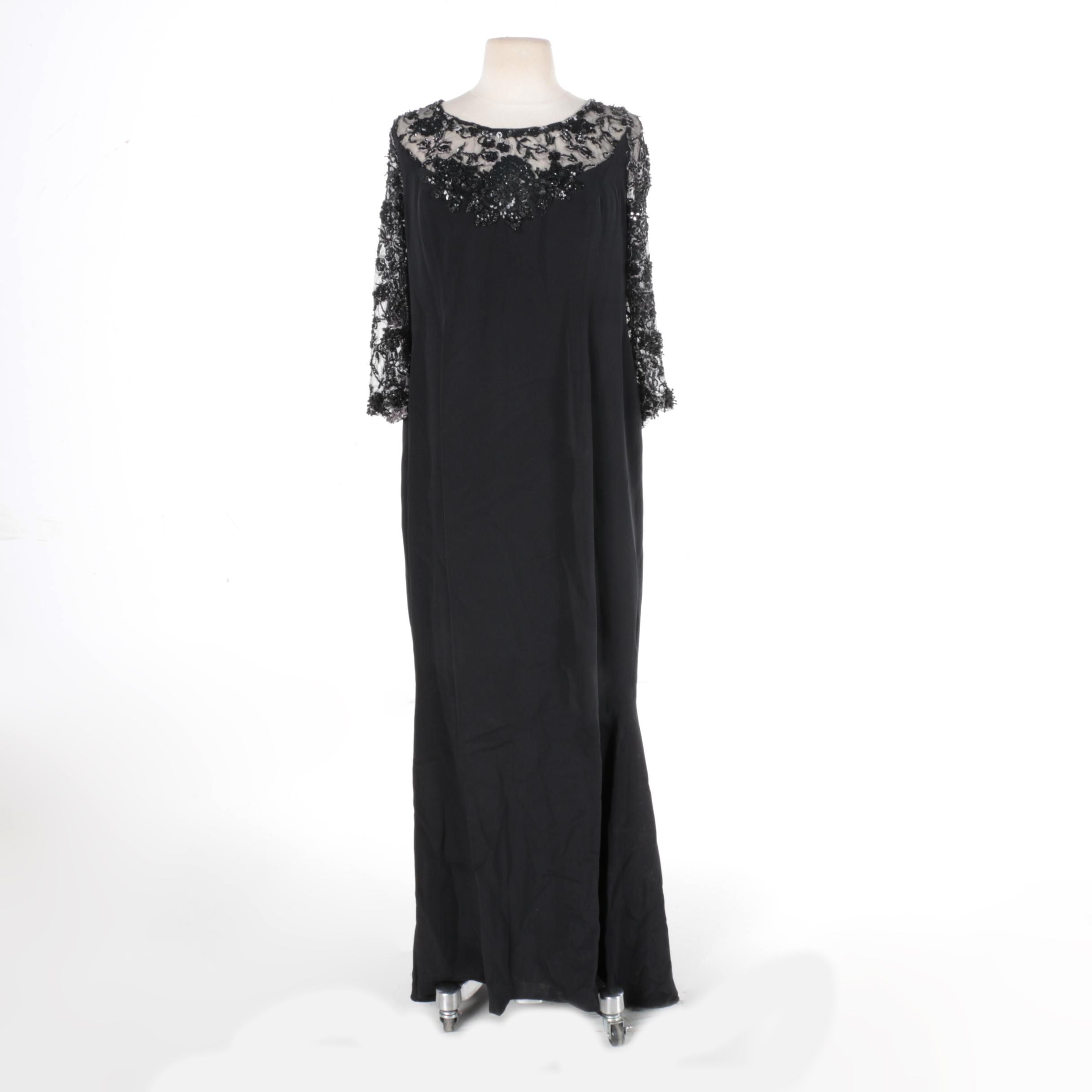 Escada Black Evening Dress