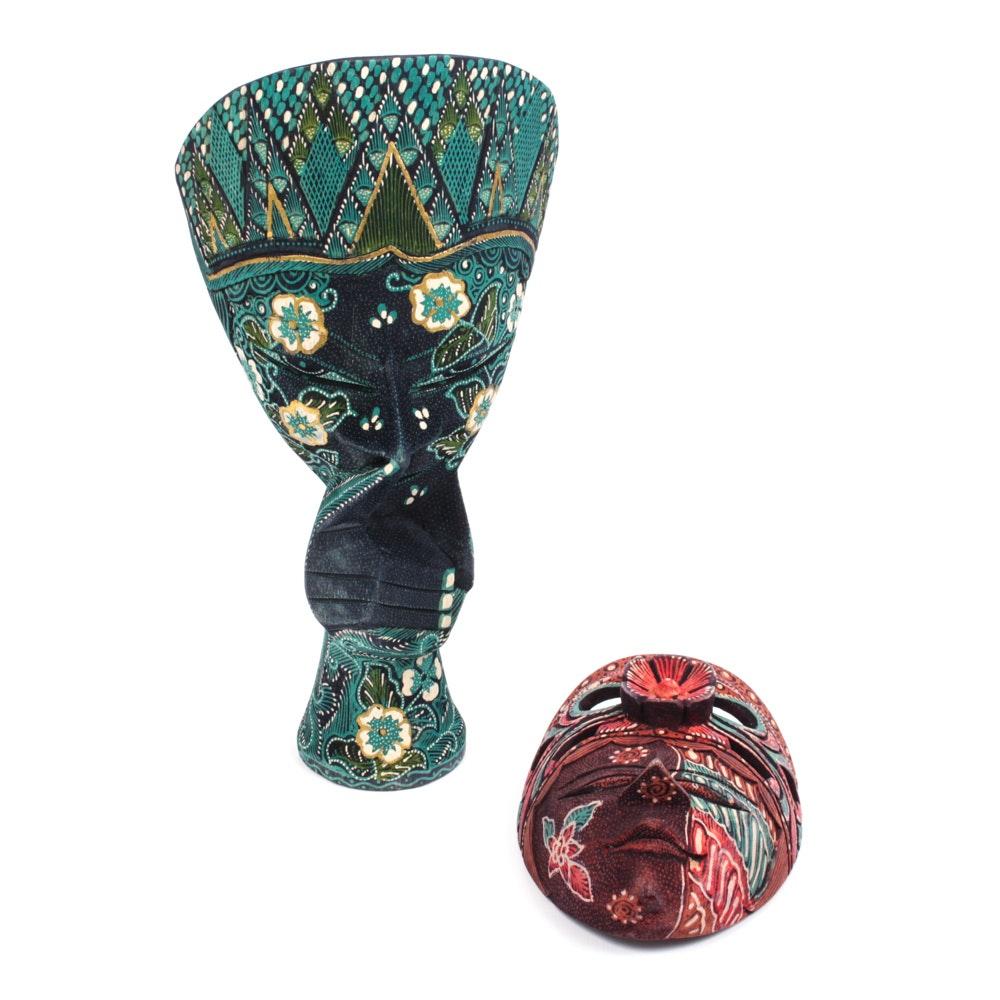 Hand-Carved Indonesian Masks