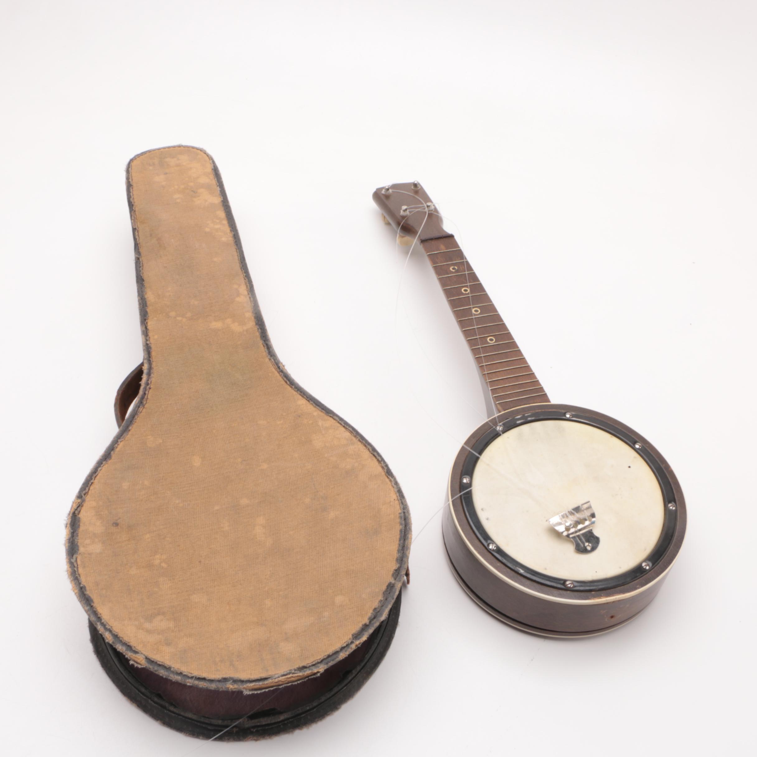 Vintage Tenor Mandolin-Banjo with Case